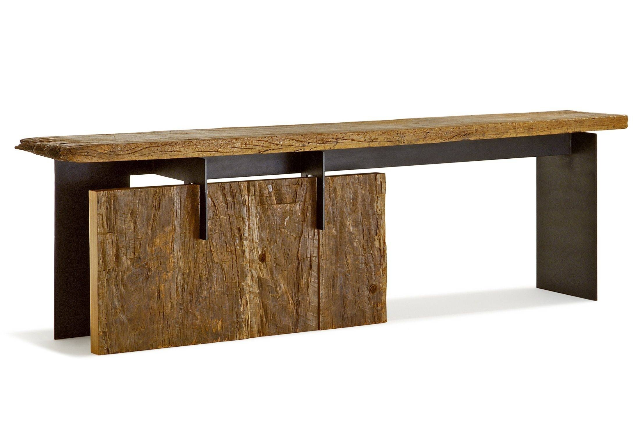 Contemporary Sideboard Table / Wooden / Rectangular / In Reclaimed within Metal Sideboard Furniture (Image 10 of 30)