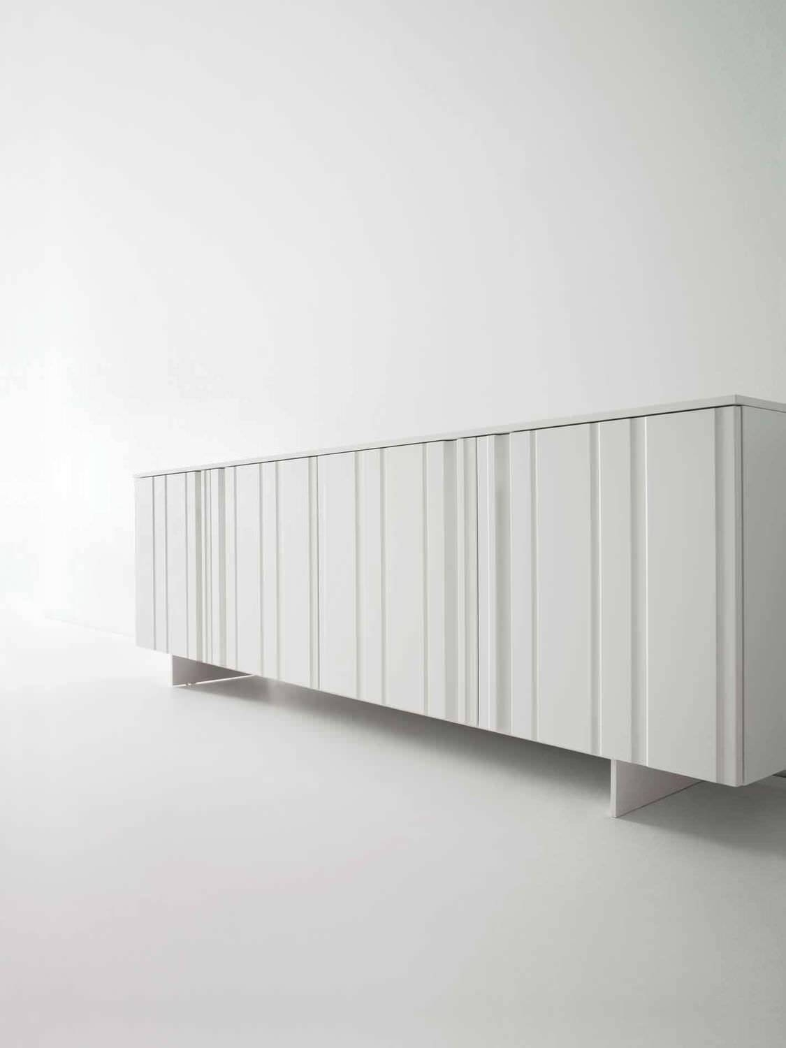 Contemporary Sideboard / Wooden / Lacquered Wood / White - Design regarding White Contemporary Sideboards (Image 5 of 30)