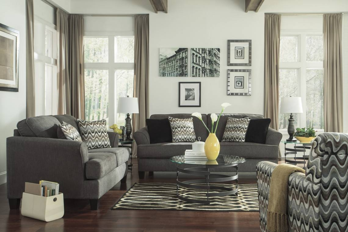 Contemporary Sitting Space Decorated With Accent Chairs For Living in Sofa and Accent Chair Set (Image 15 of 30)