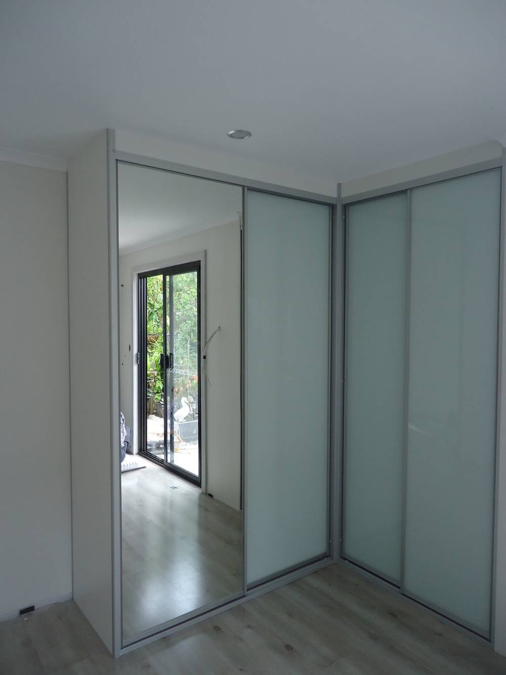 Contemporary Sliding Wardrobes — Quality Kitchens And Wardrobes Pertaining To Corner Mirrored Wardrobes (View 3 of 15)