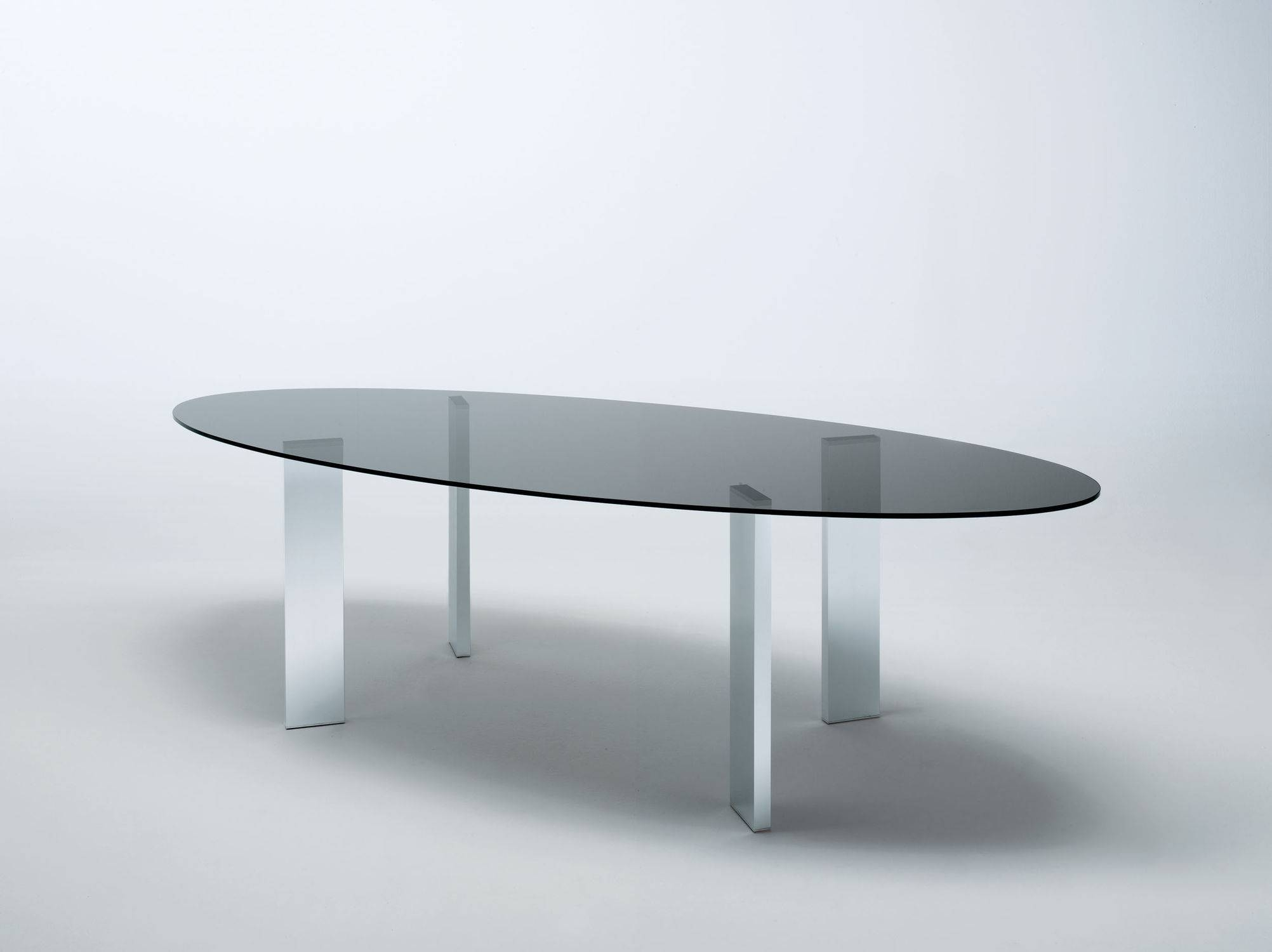 Contemporary Table / Walnut / Glass / Tempered Glass - Taul within Oval Walnut Coffee Tables (Image 10 of 30)