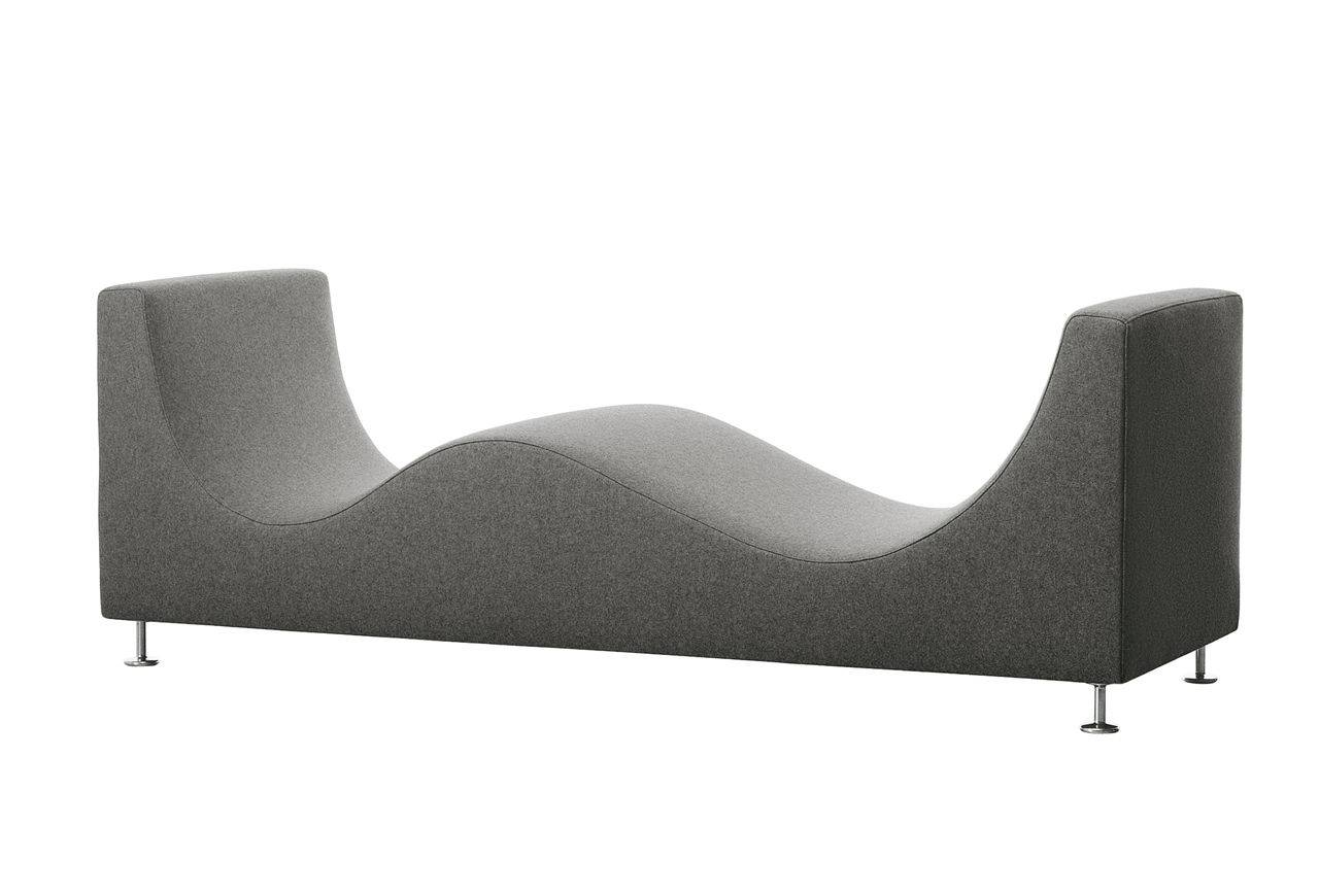 Contemporary Upholstered Bench / Fabric / Leather / With Removable pertaining to Leather Bench Sofas (Image 7 of 30)