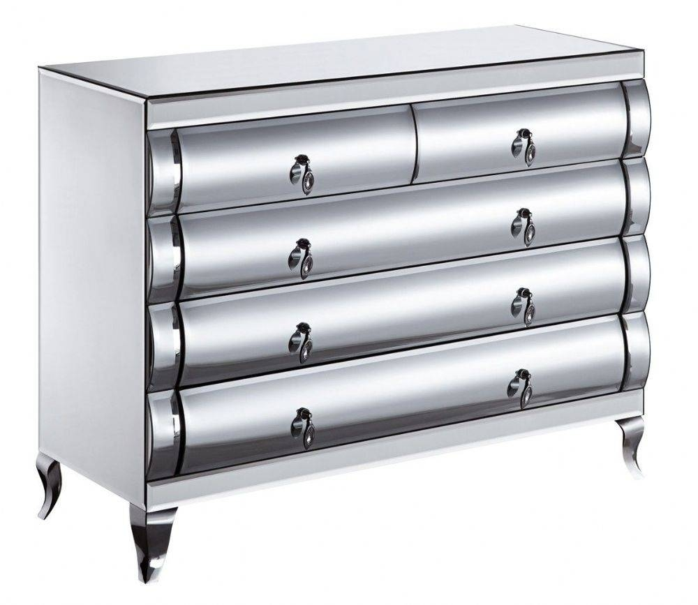 Contemporary Venetian Mirrored Glass Curved Front Two Over Three pertaining to Venetian Mirrored Chest of Drawers (Image 6 of 25)