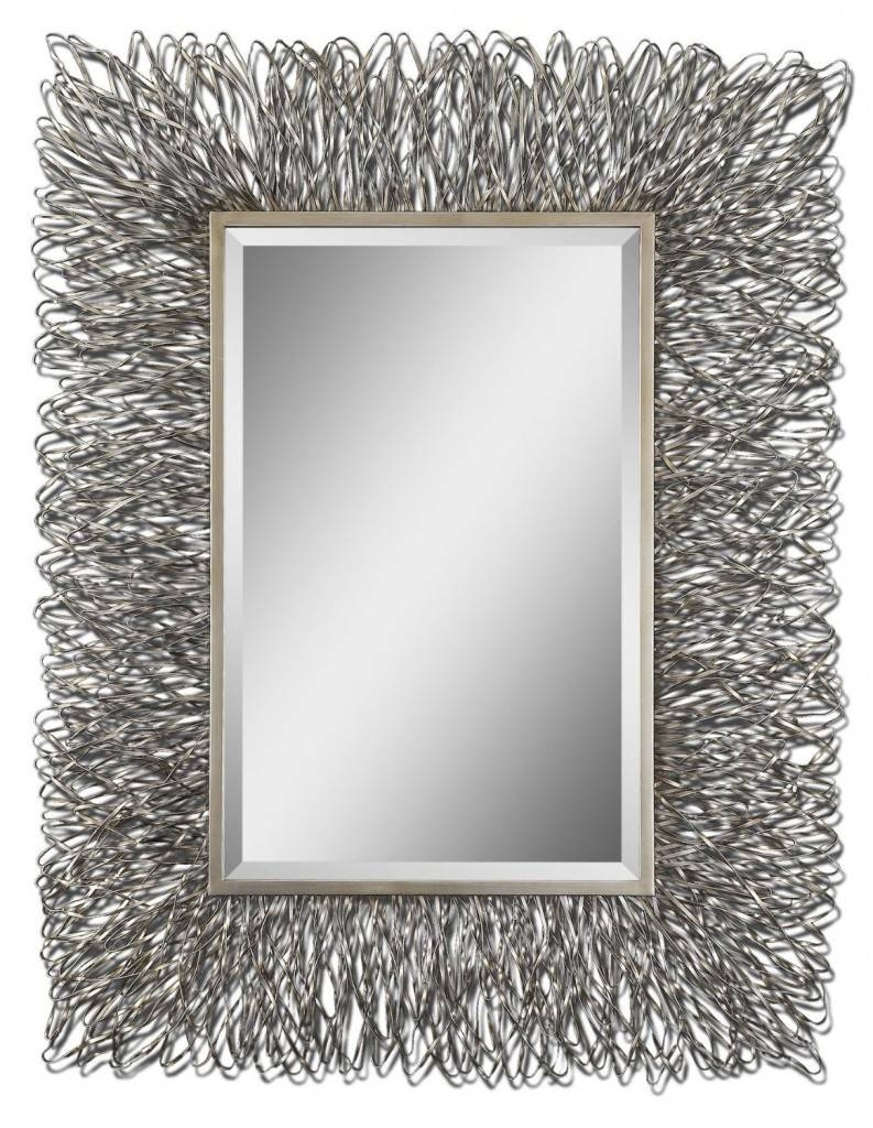 Contemporary Wall Mirrors Decorative Amazing : Create Contemporary With Silver Rectangular Mirrors (View 6 of 25)