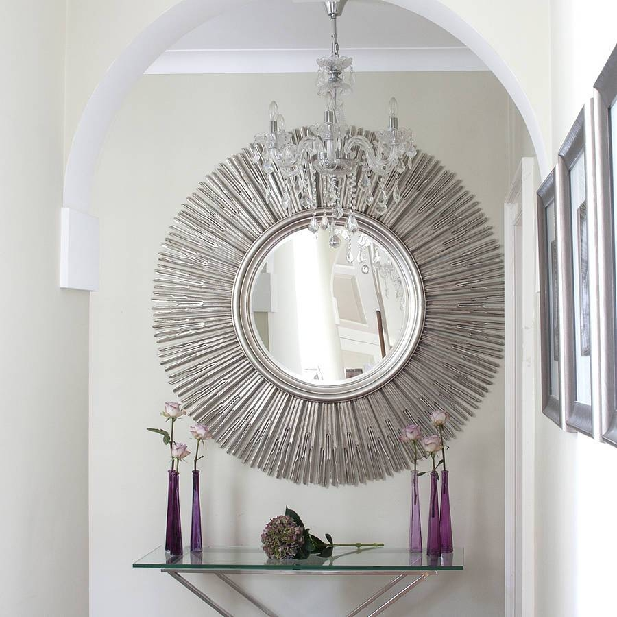 Contemporary Wall Mirrors Decorative Modern : Create Contemporary throughout Modern Silver Mirrors (Image 5 of 25)