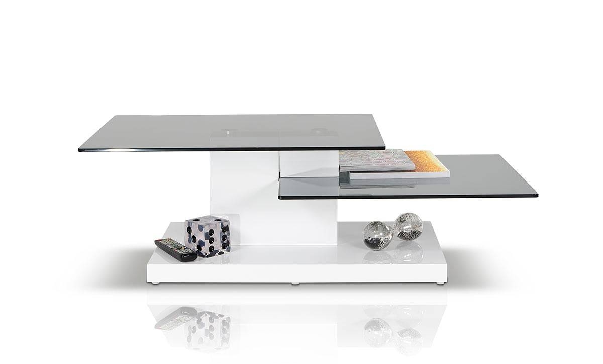 Contemporary White High Gloss Coffee Table in Gloss Coffee Tables (Image 10 of 30)