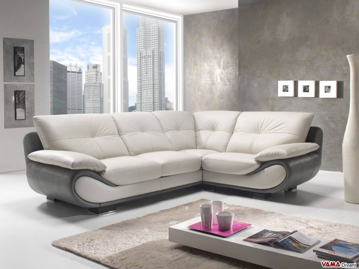 Contemporary White Leather Sofa | Price And Dimensions with White Leather Corner Sofa (Image 3 of 30)