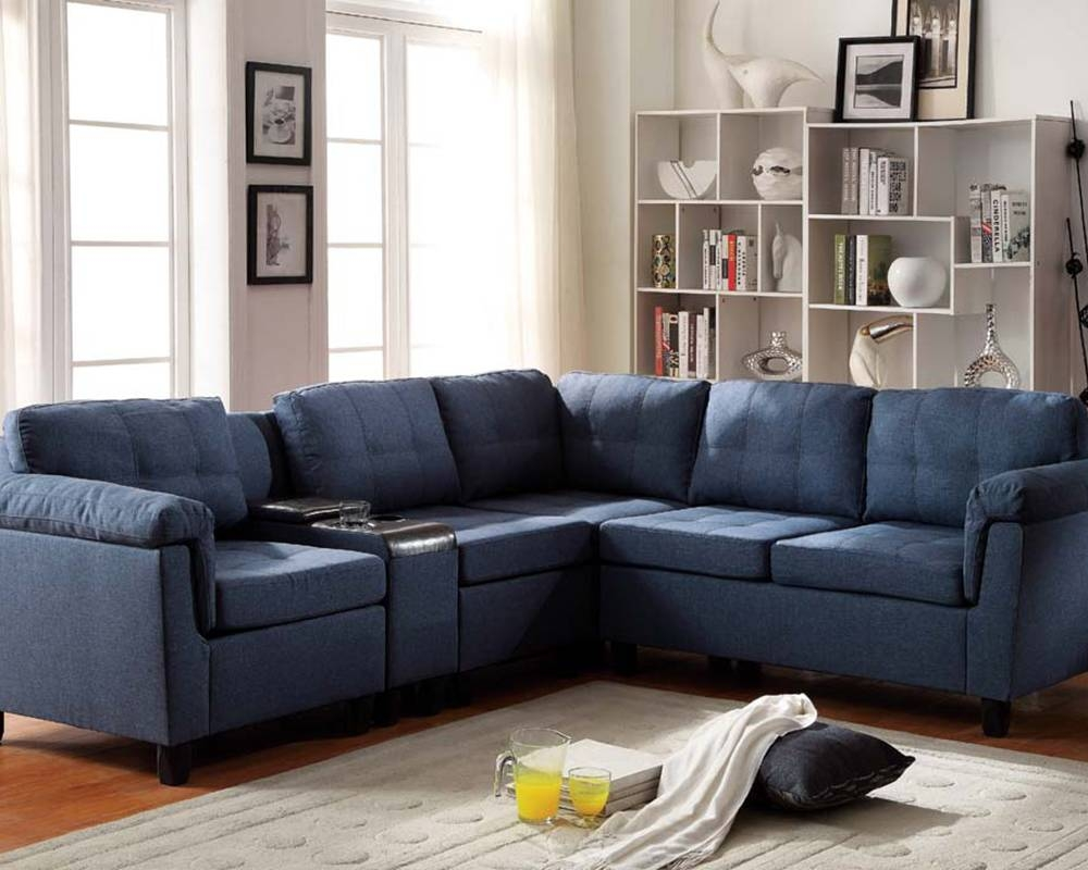 Cool Blue Microfiber Sectional Sofa 33 About Remodel High End for High End Leather Sectional Sofa (Image 2 of 25)