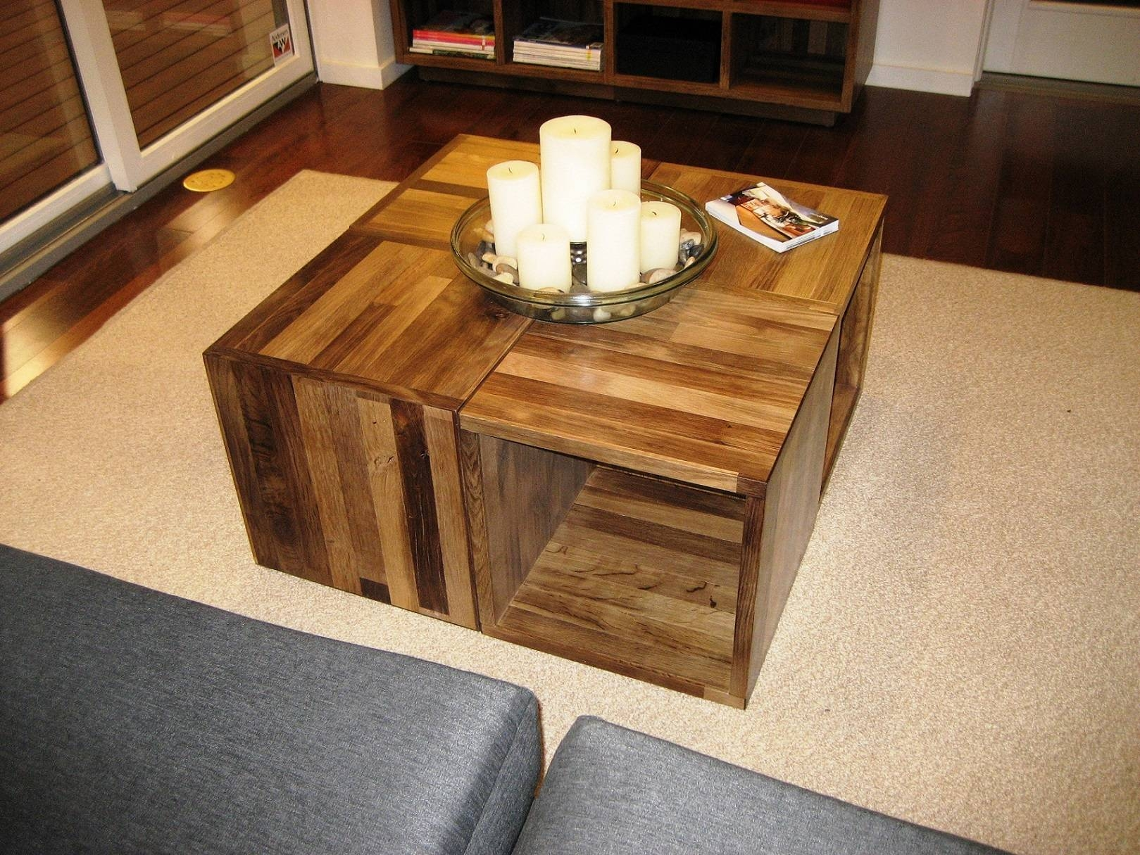 Cool Cool Wood Coffee Tables Unique Wooden Popular On Square Table within Hardwood Coffee Tables With Storage (Image 11 of 30)