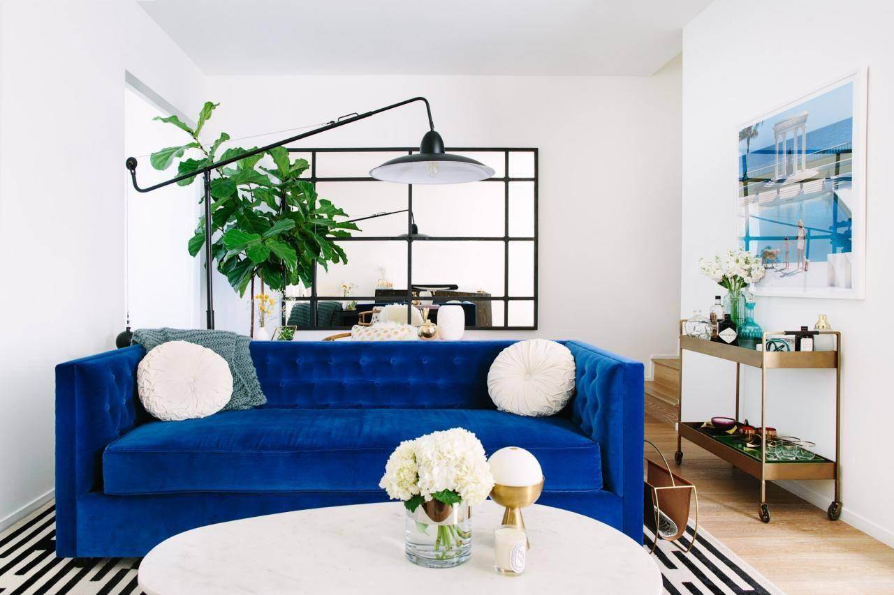 Cool Down Your Design With Blue Velvet Furniture | Hgtv's intended for Blue Tufted Sofas (Image 11 of 30)