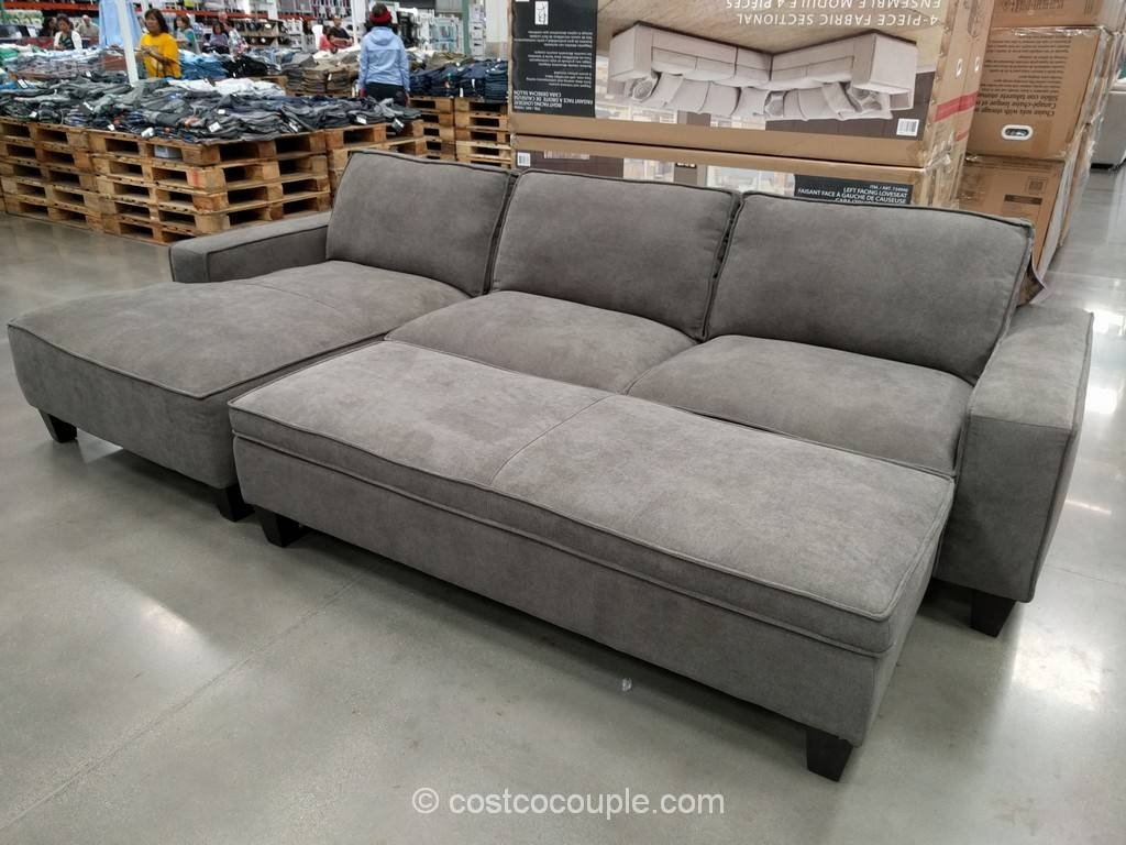 Cool Sectional Sofa With Chaise Costco 68 About Remodel Down regarding Down Feather Sectional Sofa (Image 6 of 30)