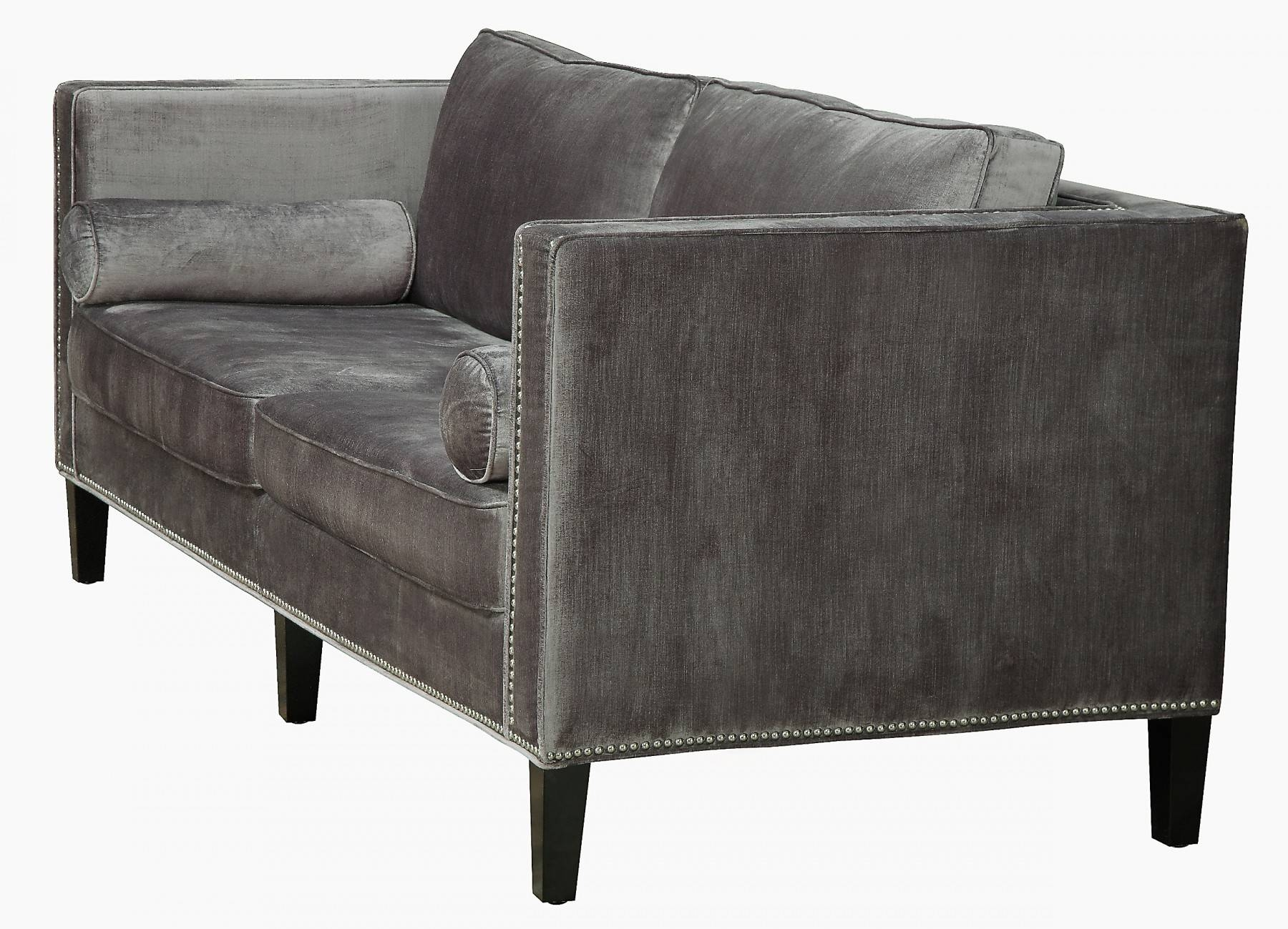 Cooper Velvet Sofatov Furniture Buy Online At Best Price - Sohomod within Black Velvet Sofas (Image 6 of 30)