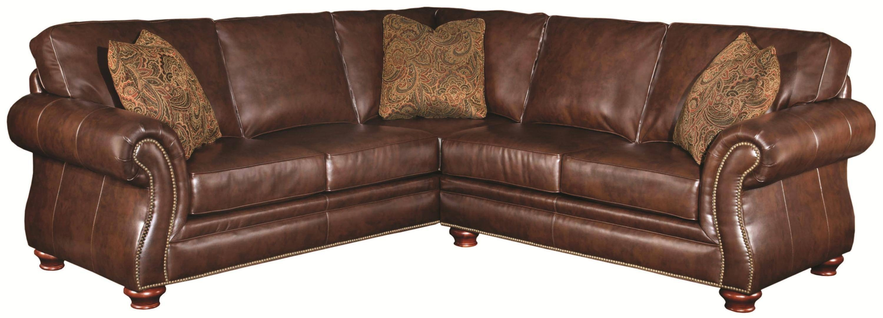 copious corner brown leather 2 piece sectional sofa with left intended for small brown leather corner  sc 1 st  bolotbochkarev.com : small 2 piece sectional sofa - Sectionals, Sofas & Couches