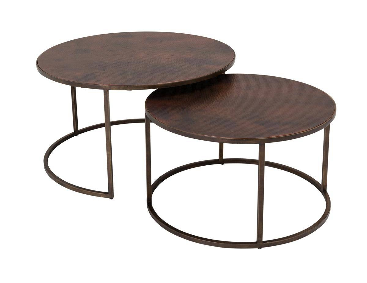 Copper-Top Nesting Coffee Tables | Weir's Furniture for Coffee Tables With Nesting Stools (Image 15 of 30)