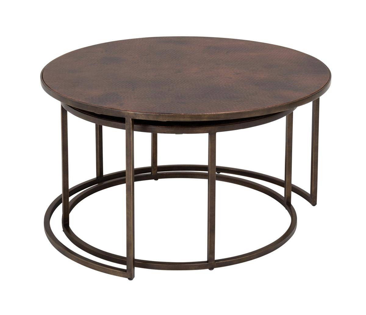 Copper-Top Nesting Coffee Tables | Weir's Furniture intended for Coffee Tables With Nesting Stools (Image 16 of 30)