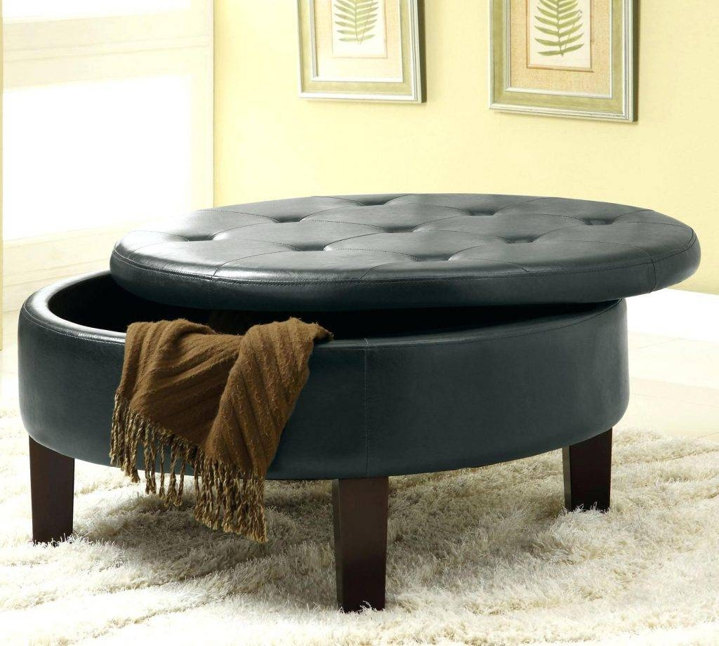 Corbett Coffee Table Storage Ottoman Round | Coffee Tables Decoration throughout Circular Coffee Tables With Storage (Image 16 of 30)