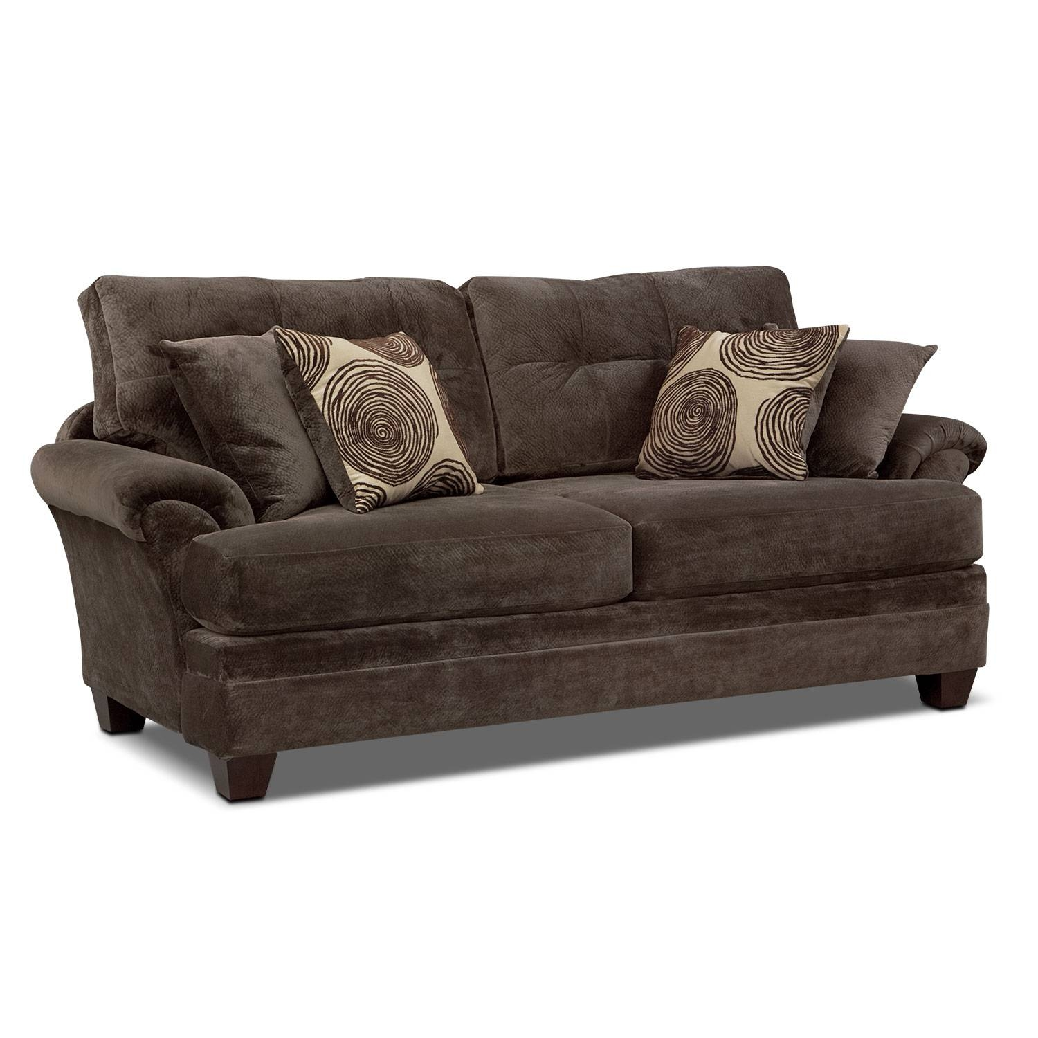 Cordelle Sofa And Swivel Chair Set - Chocolate | Value City Furniture regarding Sofa With Swivel Chair (Image 5 of 30)