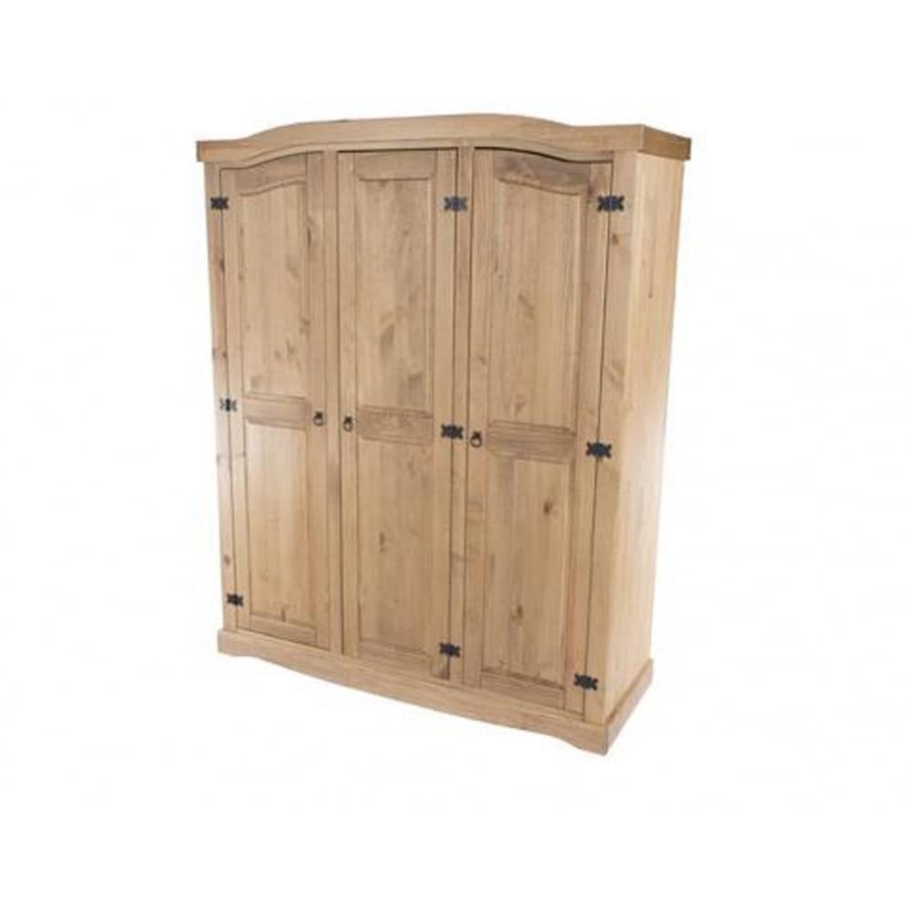 Core Products Corona 3 Door Wardrobe Cr530 | Cheapest Corona Cr530 With Corona Wardrobes With 3 Doors (View 3 of 15)