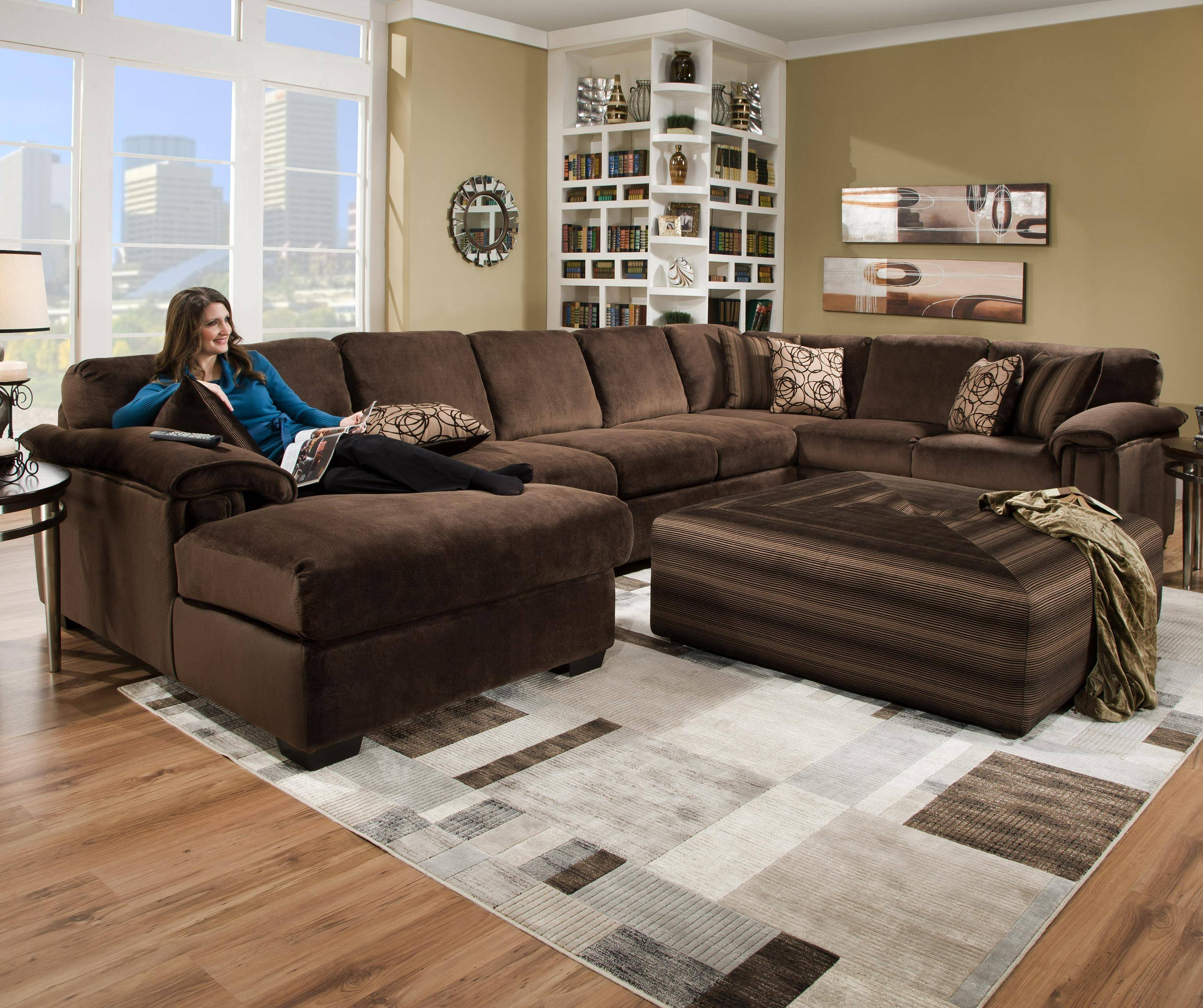 Corinthian 6500 Sect Six Person Sectional Sofa For Contemporary with Corinthian Sectional Sofas (Image 6 of 30)