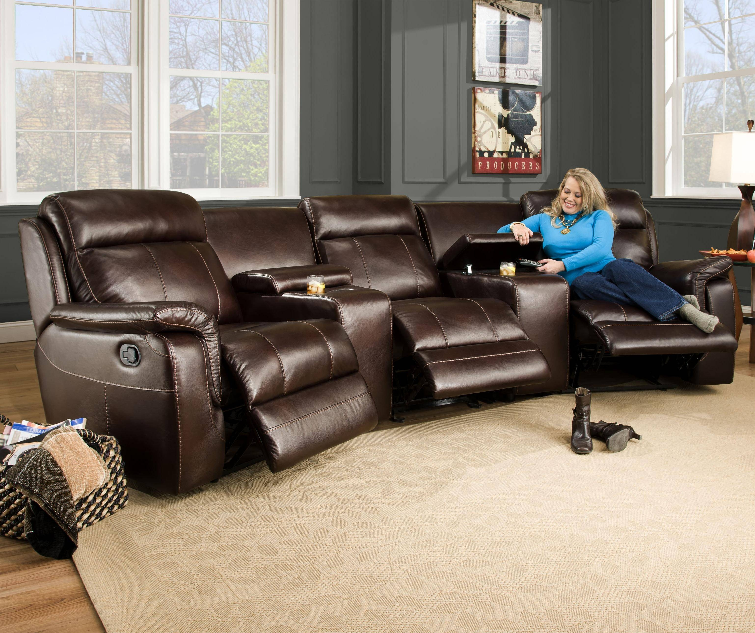 Corinthian 862 Sectional Sofa With 5 Seats (2 Are Wall Away in Corinthian Sectional Sofas (Image 7 of 30)