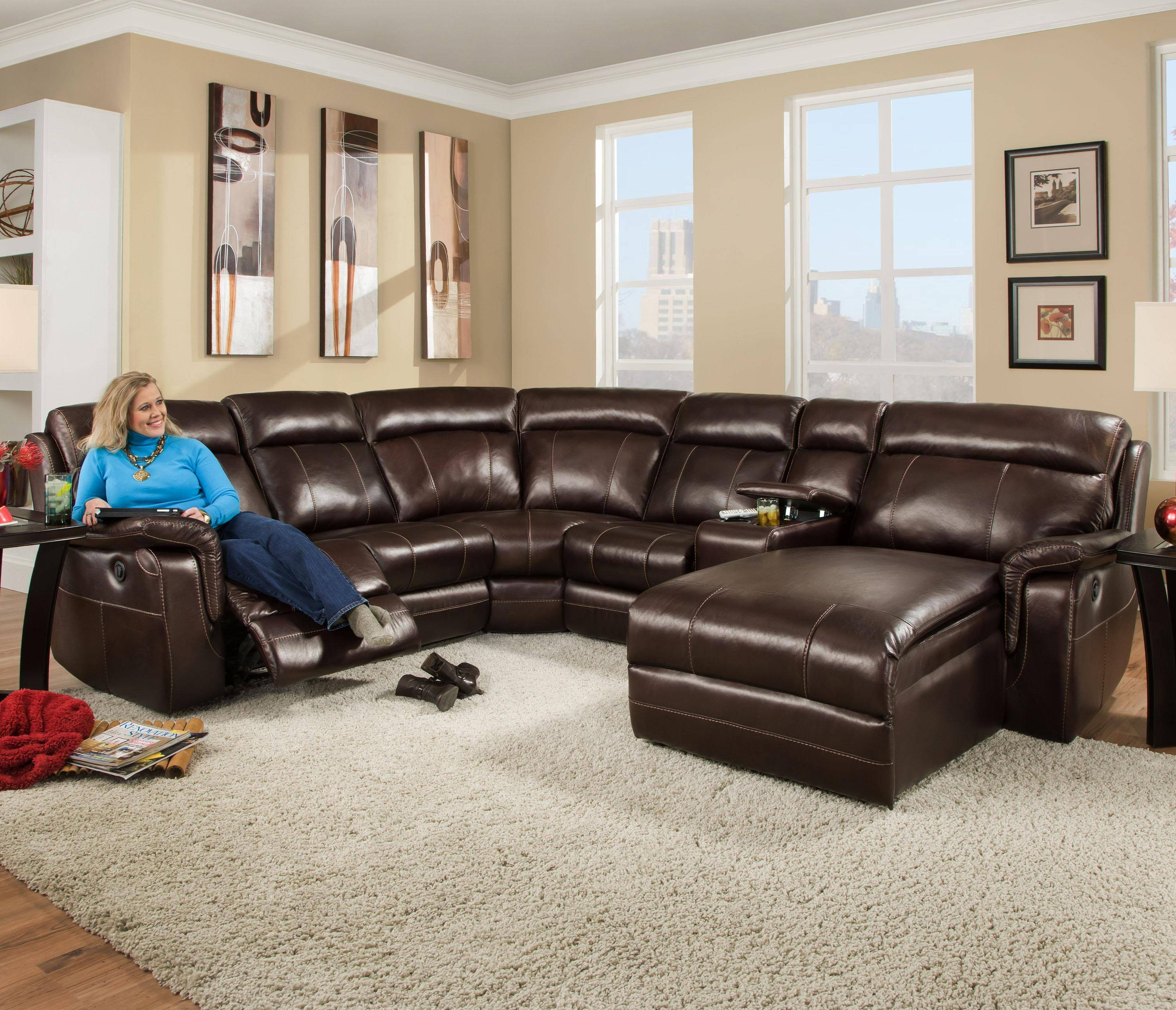 Corinthian 862 Sectional Sofa With 5 Seats (2 Are Wall Away pertaining to Corinthian Sectional Sofas (Image 8 of 30)