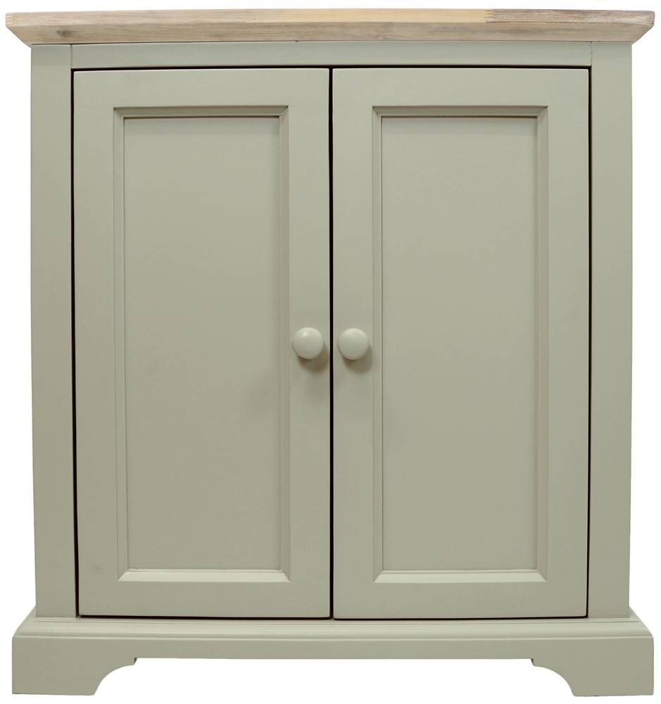 Corner Sideboard, Kitchen Corner Cupboard Unit With 2 Doors &amp in Fully Assembled Sideboards (Image 11 of 30)