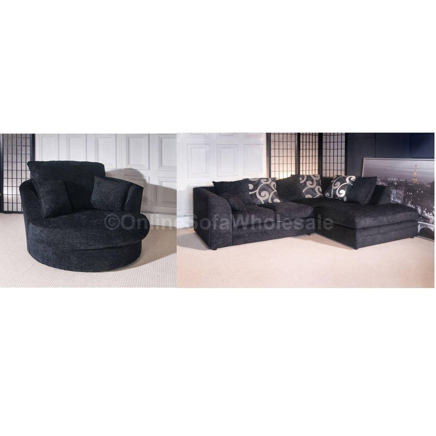 Featured Photo of Corner Sofa And Swivel Chairs
