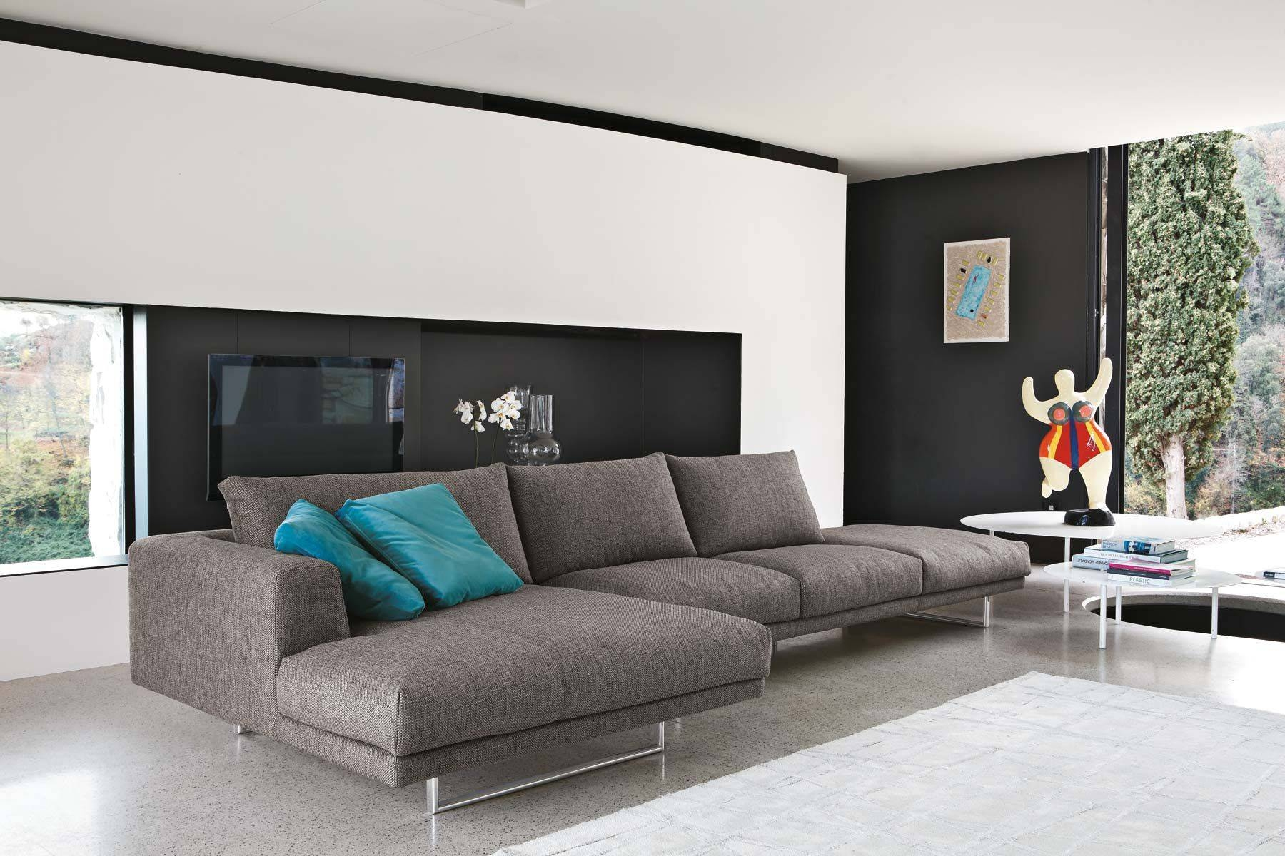 Corner Sofa / Contemporary / Fabric / 3-Seater - Empire - Gruppo throughout Contemporary Fabric Sofas (Image 6 of 30)