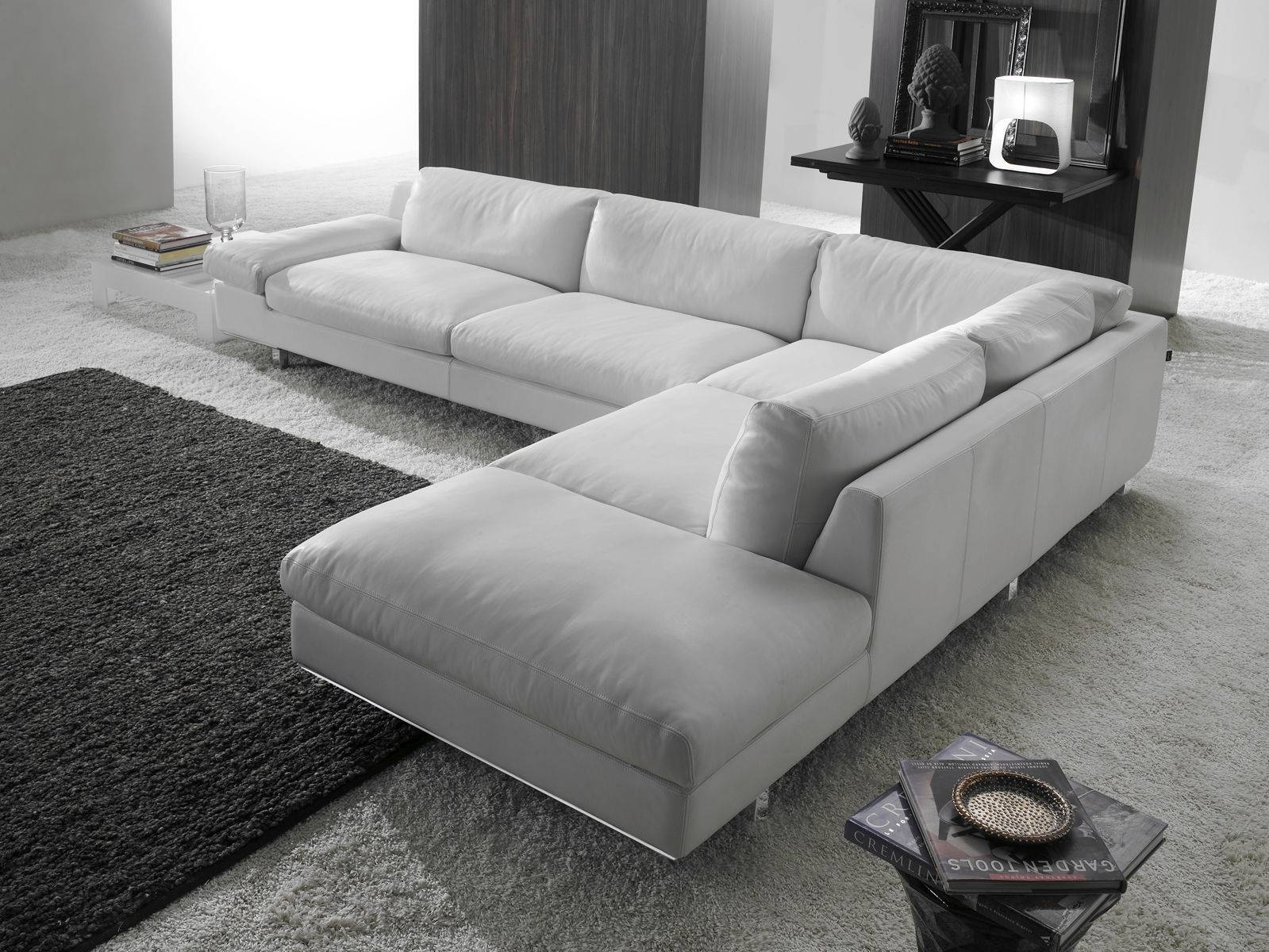 Corner Sofa / Contemporary / Leather / 4-Seater - Paranà with Four Seat Sofas (Image 14 of 30)