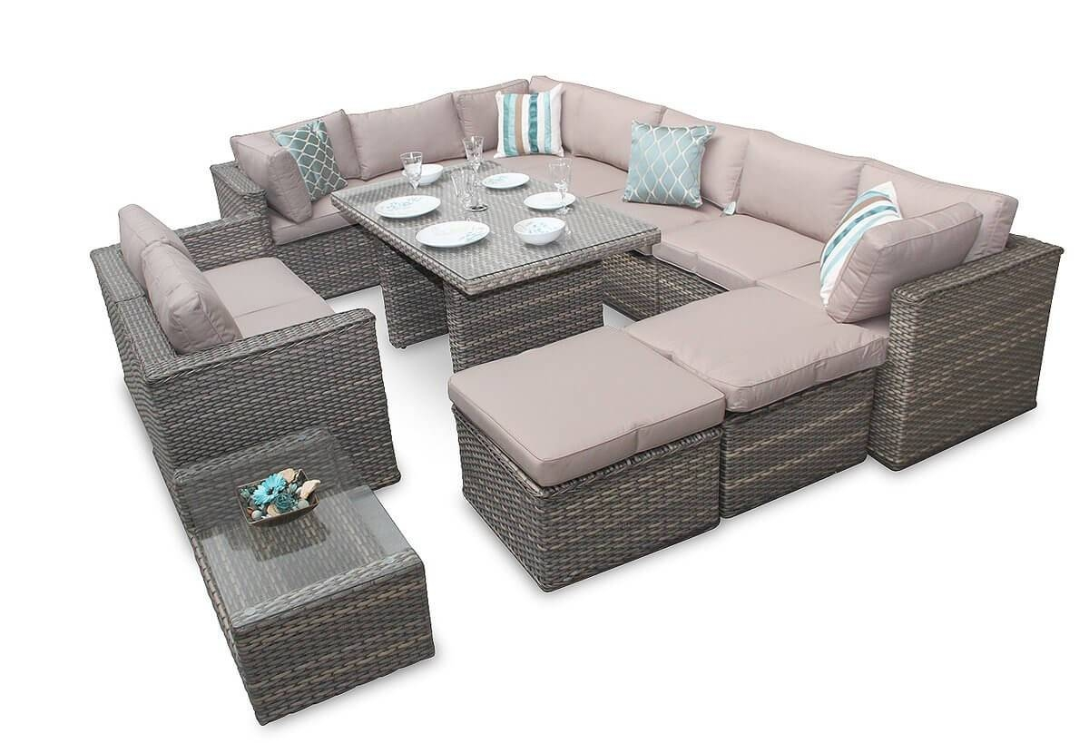 Corner Sofa Garden Furniture Manchester 7Pc Natural Daybed Set intended for Manchester Sofas (Image 6 of 30)