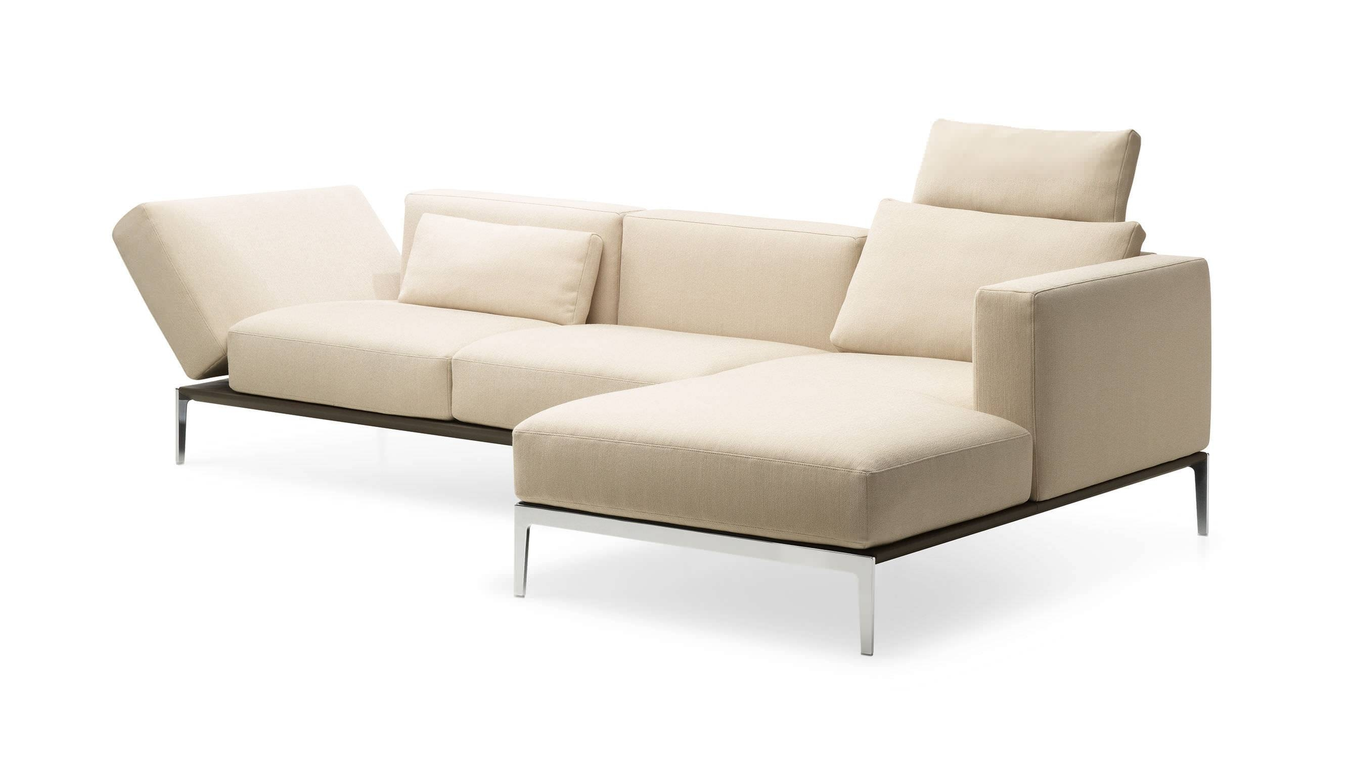 Corner Sofa / Modular / Contemporary / Leather - 1343 Piu inside Modular Corner Sofas (Image 13 of 30)
