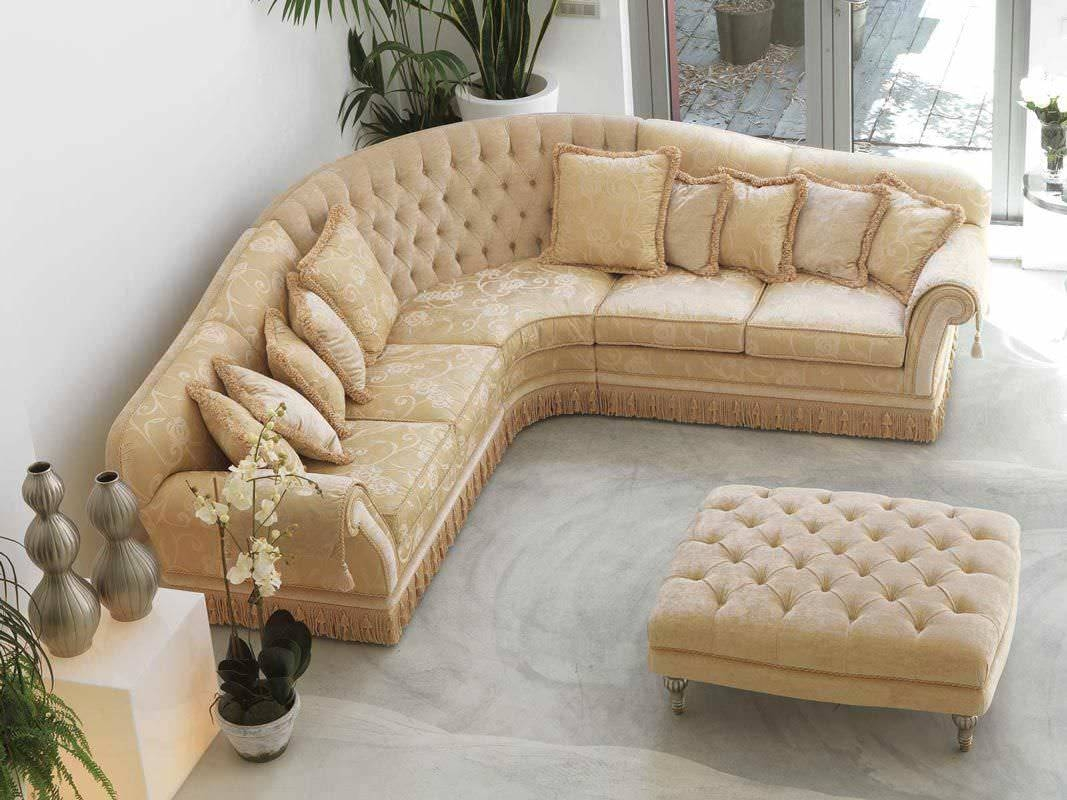 Corner Sofa / Traditional / Fabric / 5-Seater - Glicine - Pigoli within Traditional Fabric Sofas (Image 8 of 30)