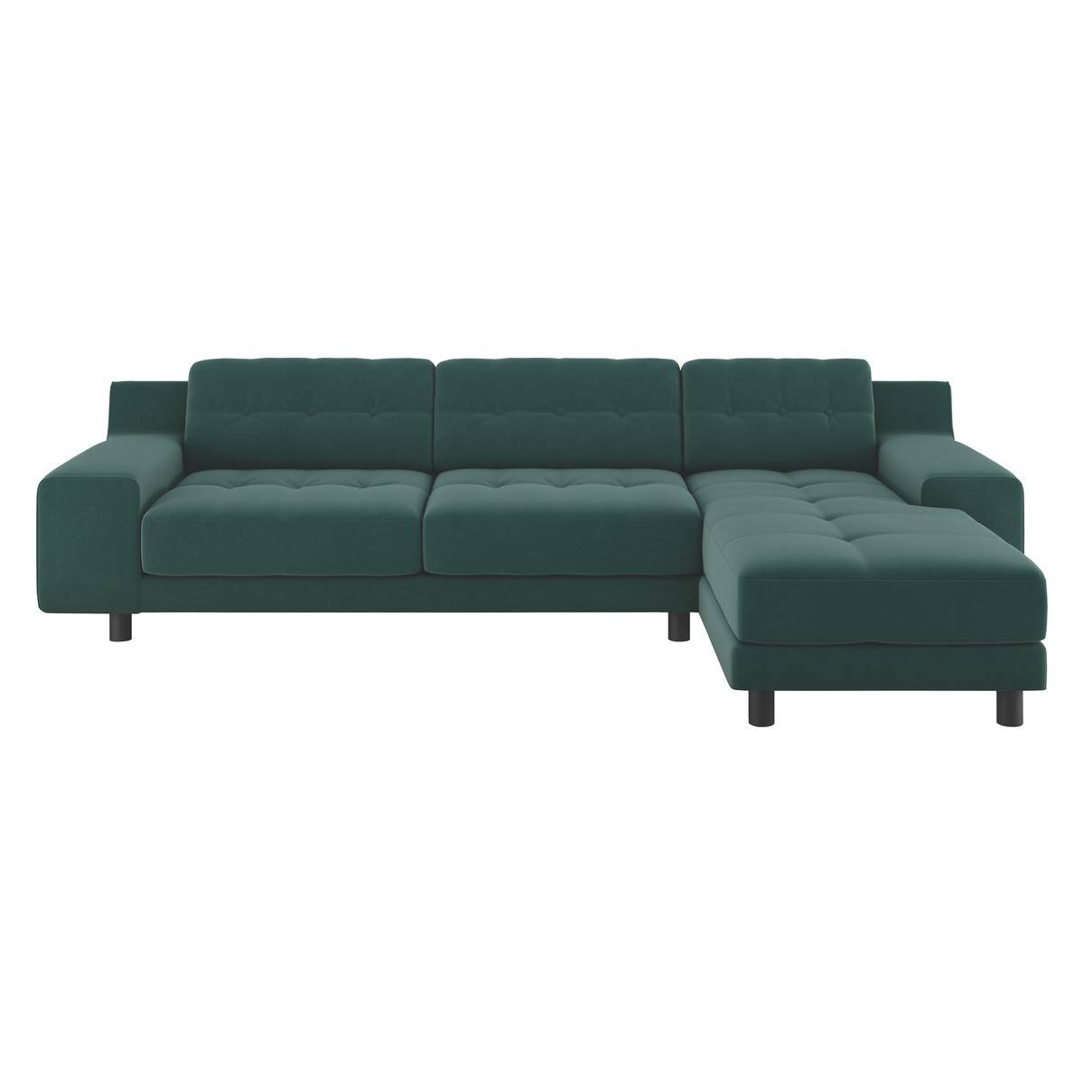 Corner Sofas; Leather & Fabric L-Shaped Styles - Habitat within Leather Corner Sofas (Image 10 of 30)