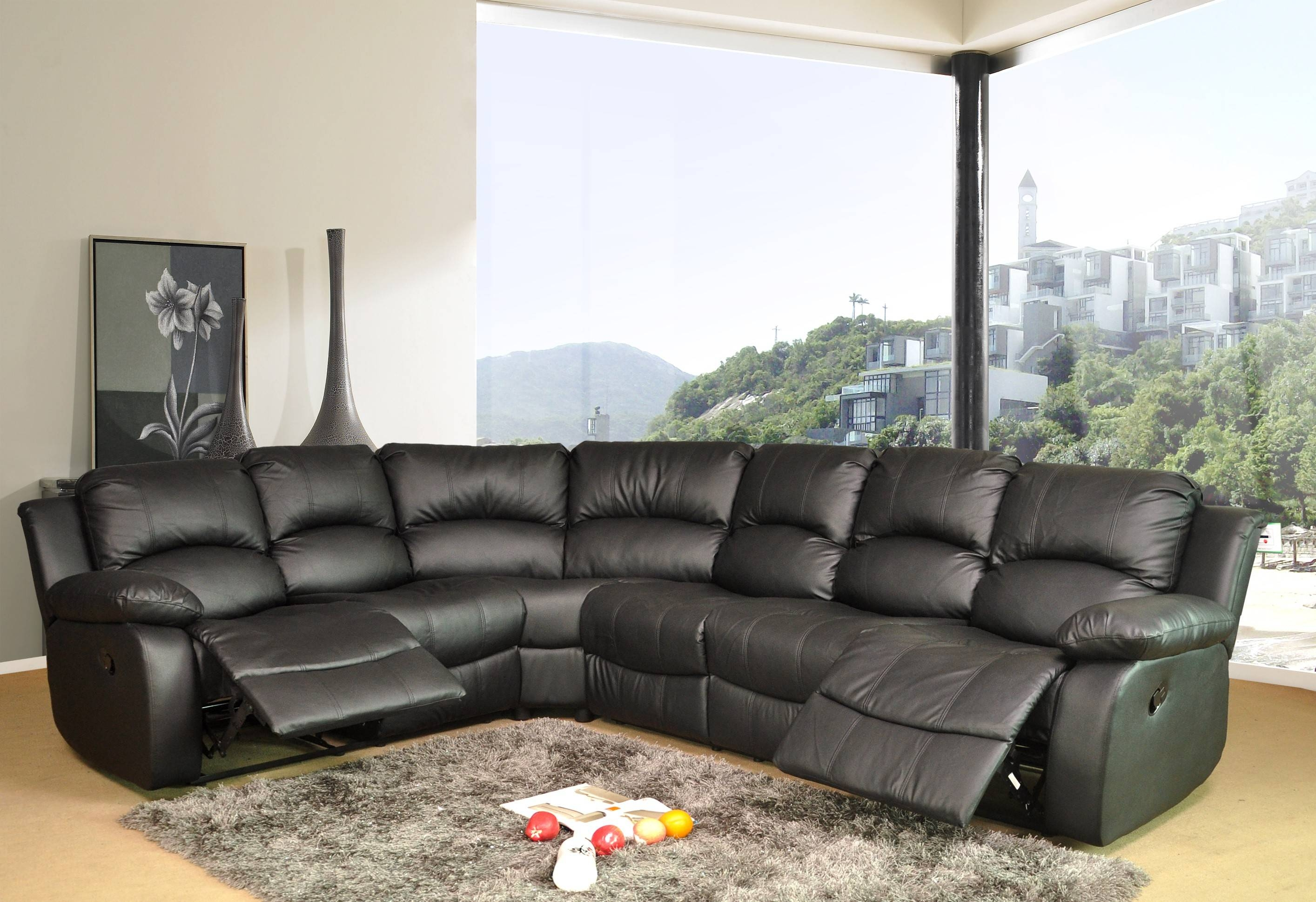 Corner Sofas With Recliners | Tehranmix Decoration inside Large Black Leather Corner Sofas (Image 6 of 30)