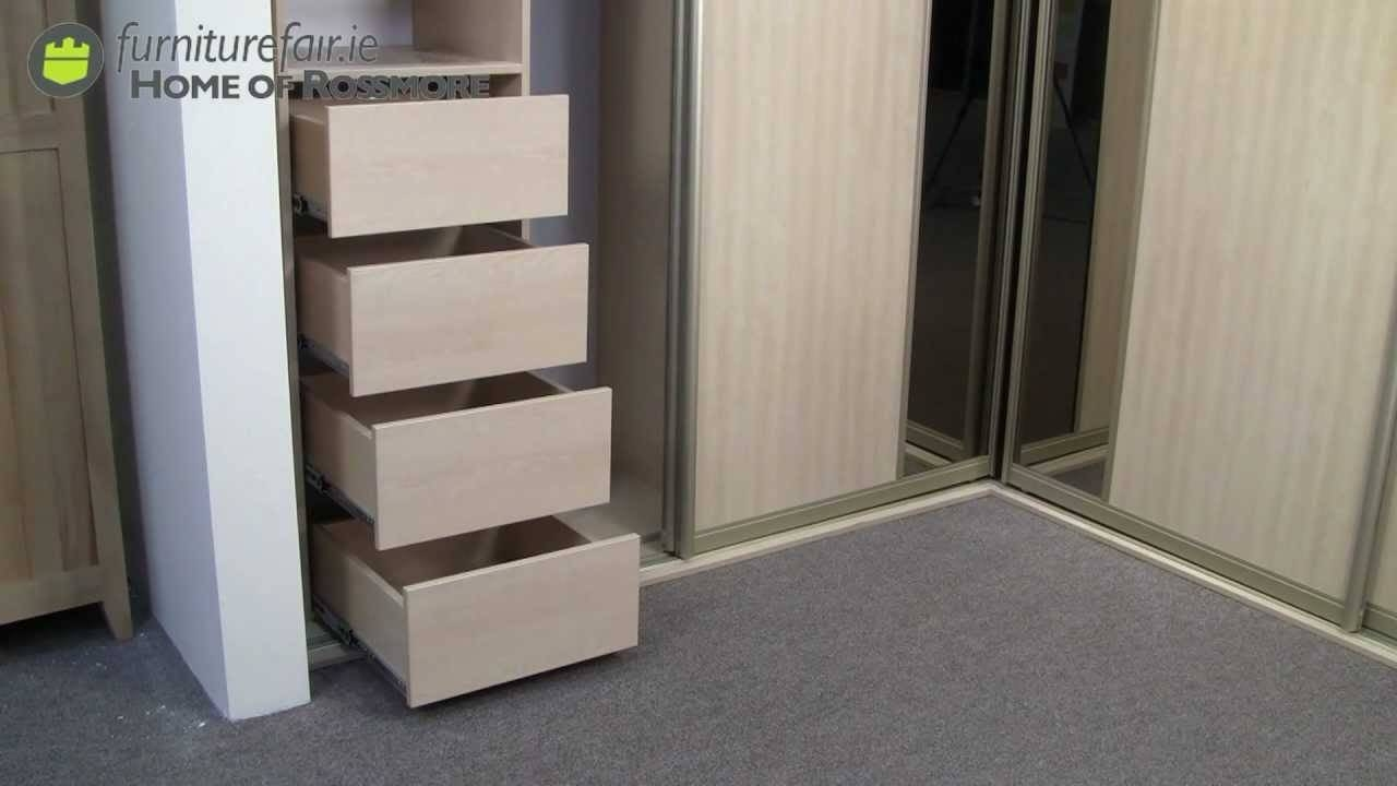 Corner Unit Sliding Wardrobe - Youtube with regard to White Corner Wardrobes Units (Image 3 of 15)