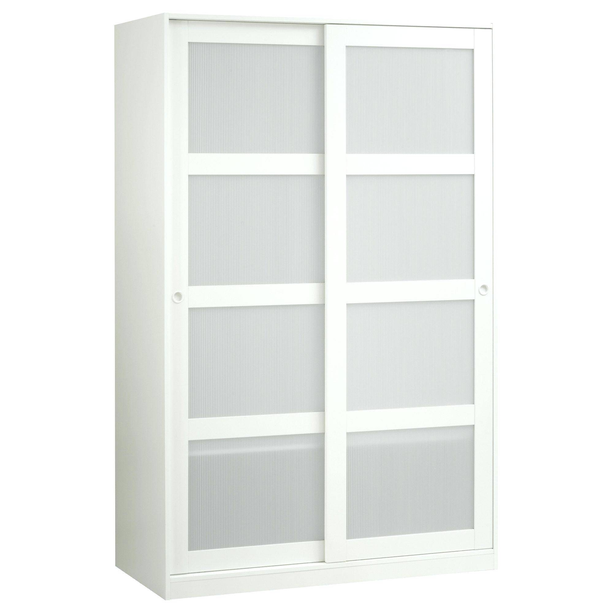 Corner Wardrobe Armoire Like New Ikea With Mirror And 3 Doors See regarding Wicker Armoire Wardrobes (Image 6 of 15)