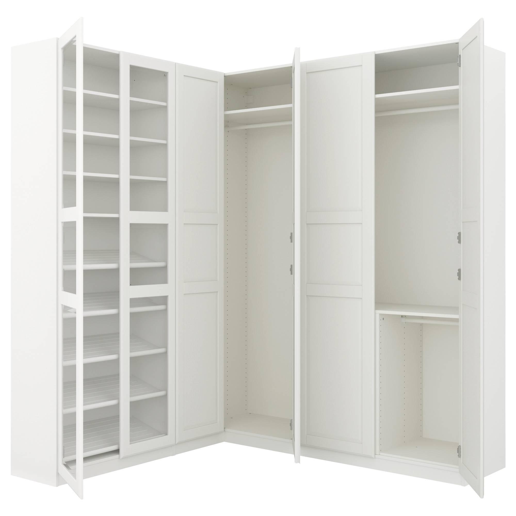 Corner Wardrobes intended for White Corner Wardrobes Units (Image 5 of 15)