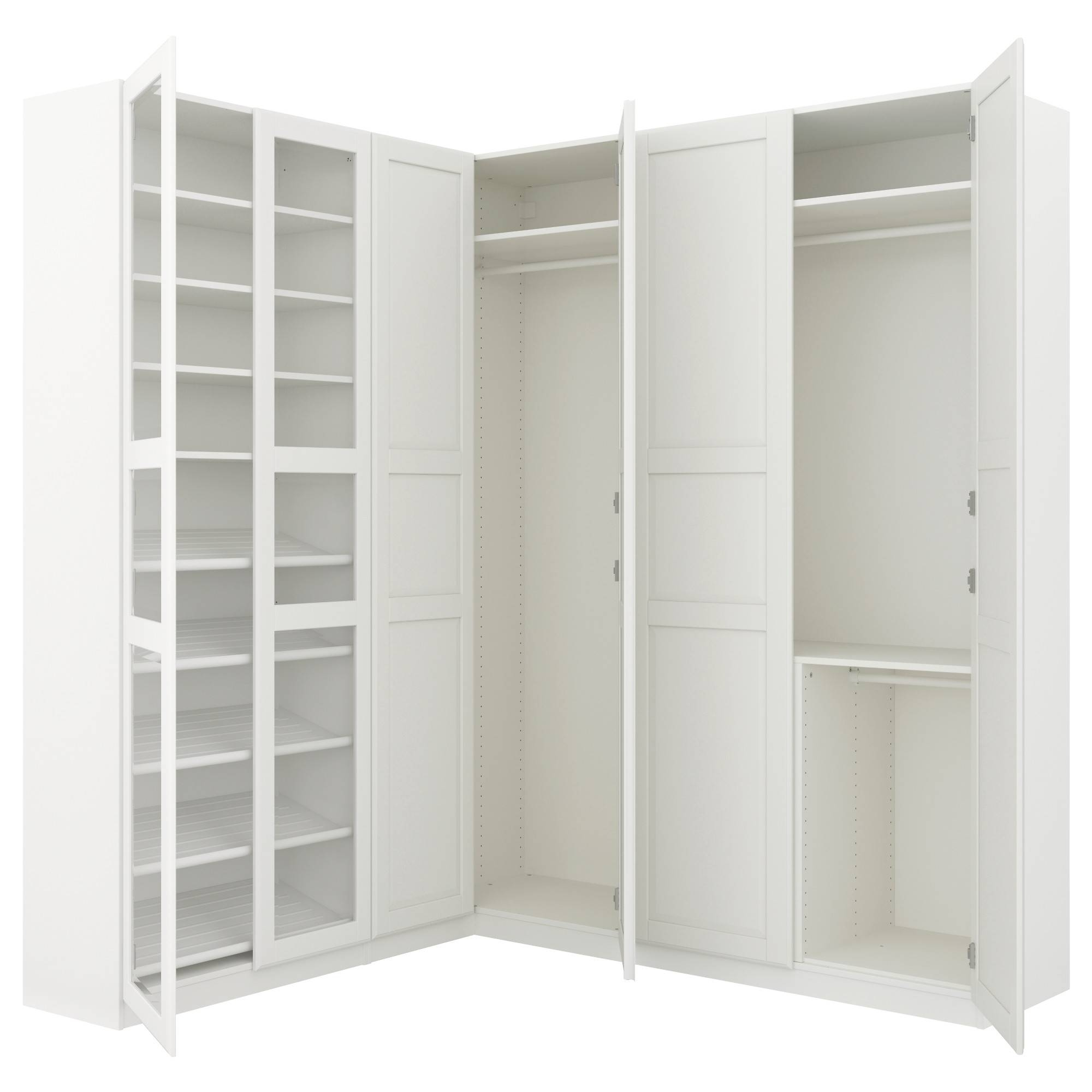 Corner Wardrobes pertaining to Corner Wardrobe Closet Ikea (Image 11 of 30)