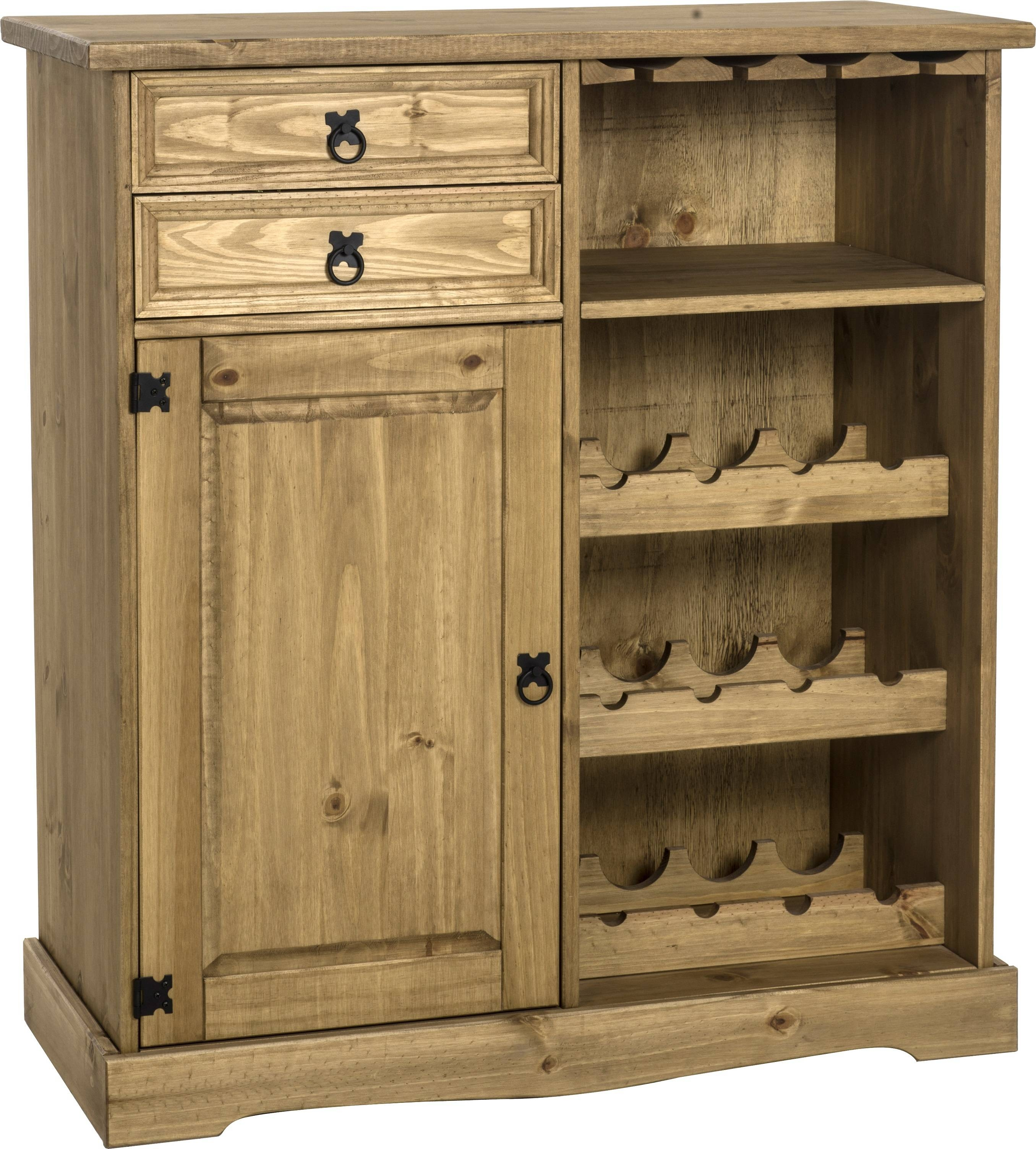 Corona 2 Door Cupboard Unit | Solidwood Furniture within Mexican Sideboards (Image 2 of 30)
