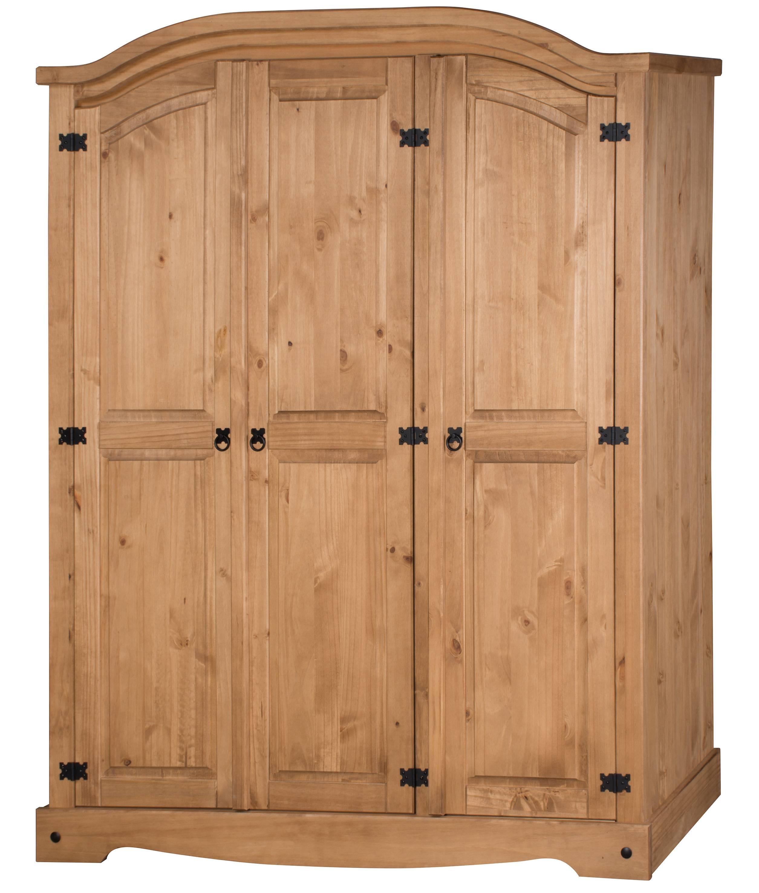 Corona 3 Door Arch Top Wardrobe with regard to Corona 3 Door Wardrobes (Image 6 of 15)