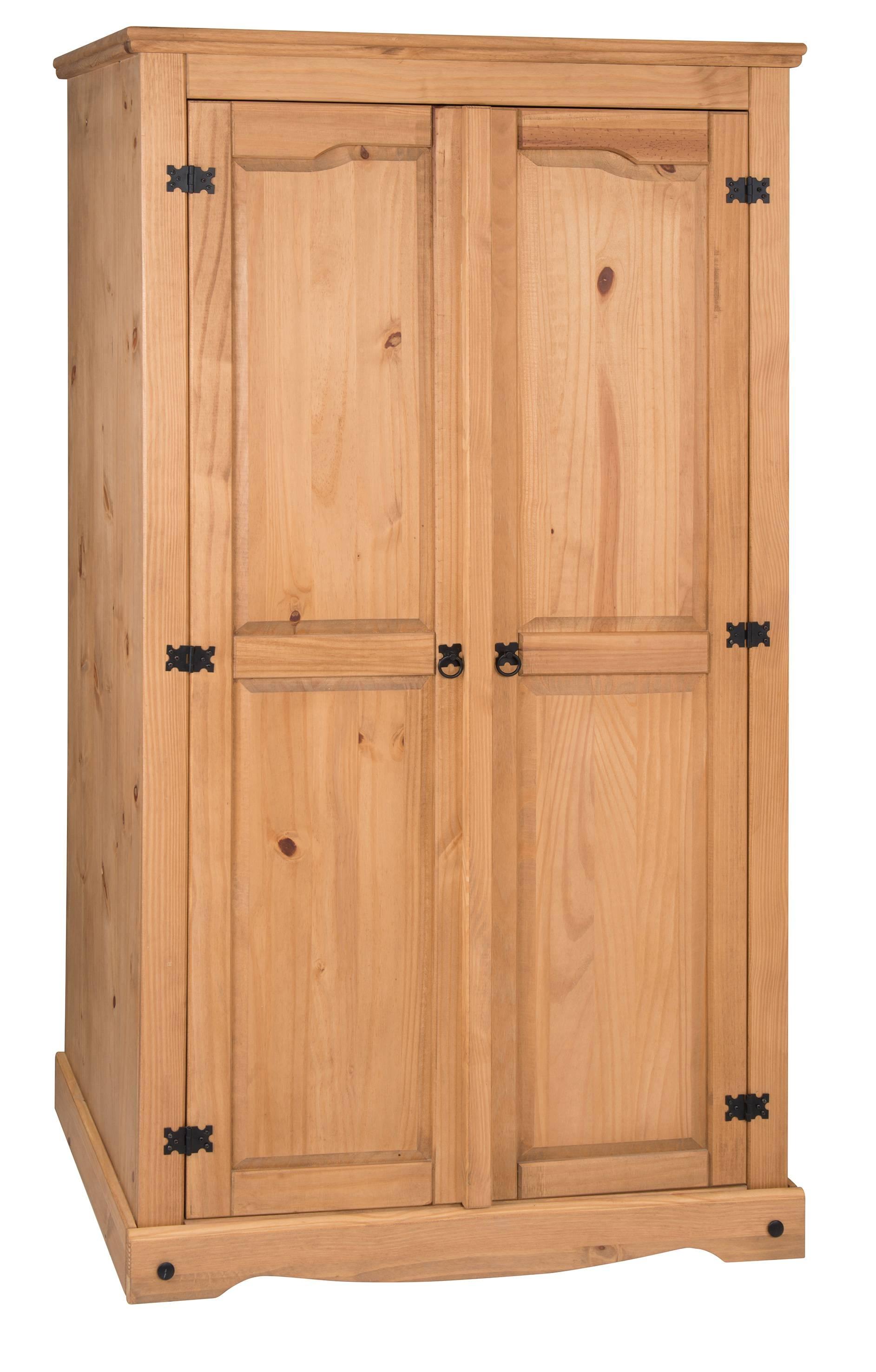 Corona 3 Door Flat Top Wardrobe inside Corona 3 Door Wardrobes (Image 7 of 15)
