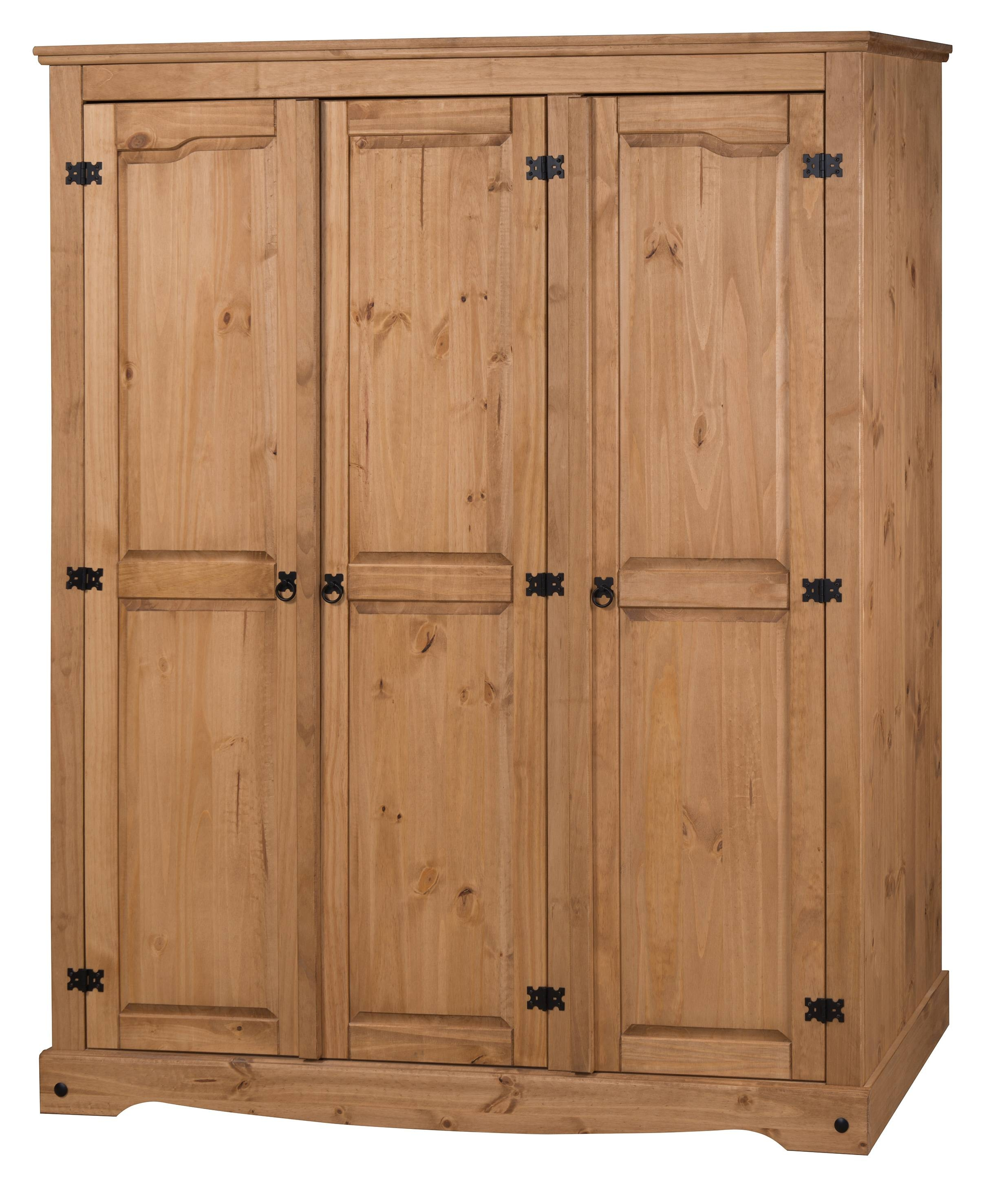 Corona 3 Door Flat Top Wardrobe intended for Corona Wardrobes With 3 Doors (Image 6 of 15)