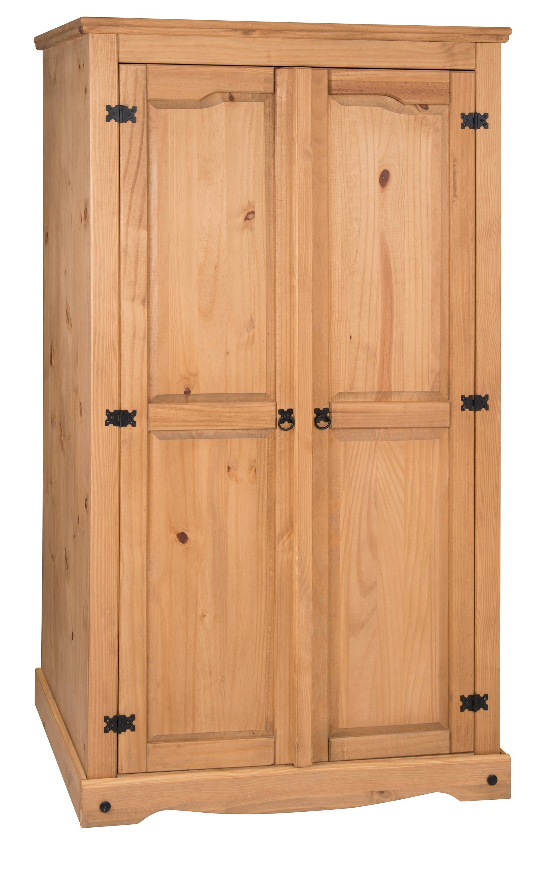 Corona 3 Door Flat Top Wardrobe with regard to Corona Wardrobes With 3 Doors (Image 7 of 15)
