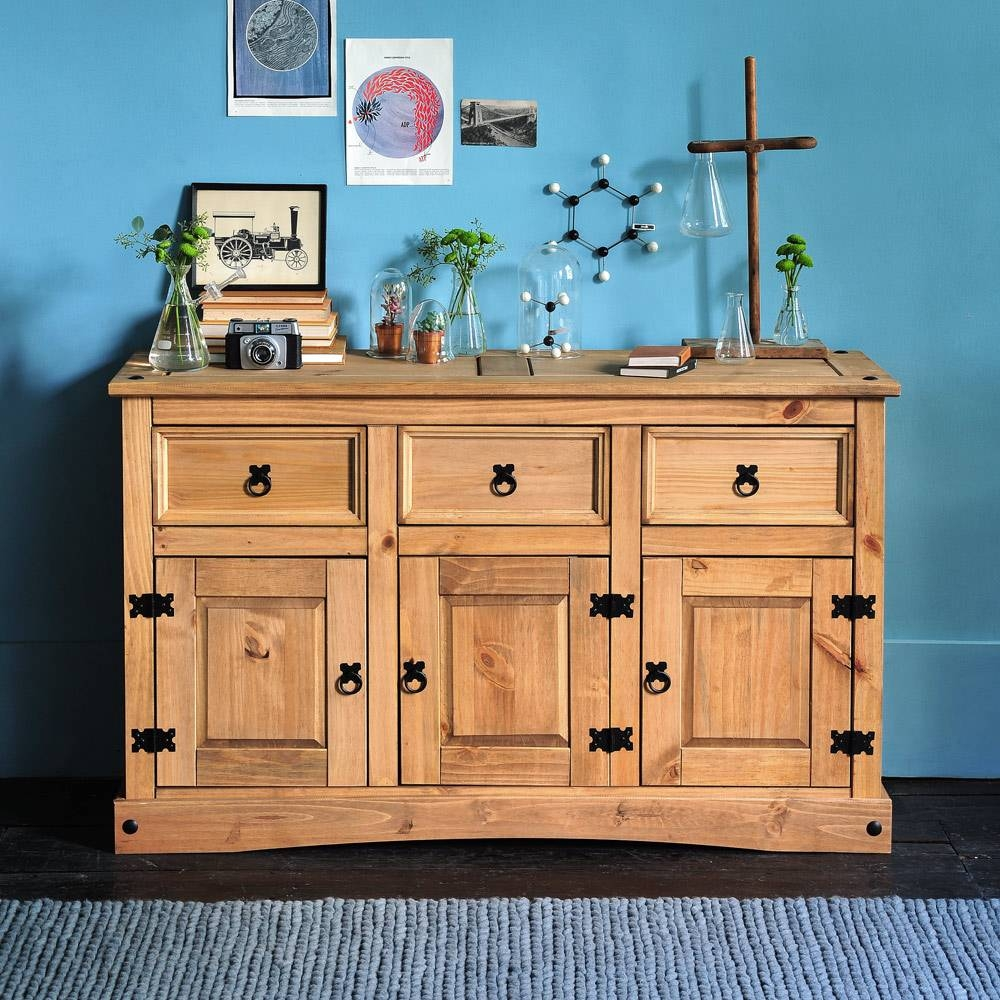 Corona Mexican Pine Large Sideboard Including Free Delivery with regard to Mexican Sideboards (Image 3 of 30)