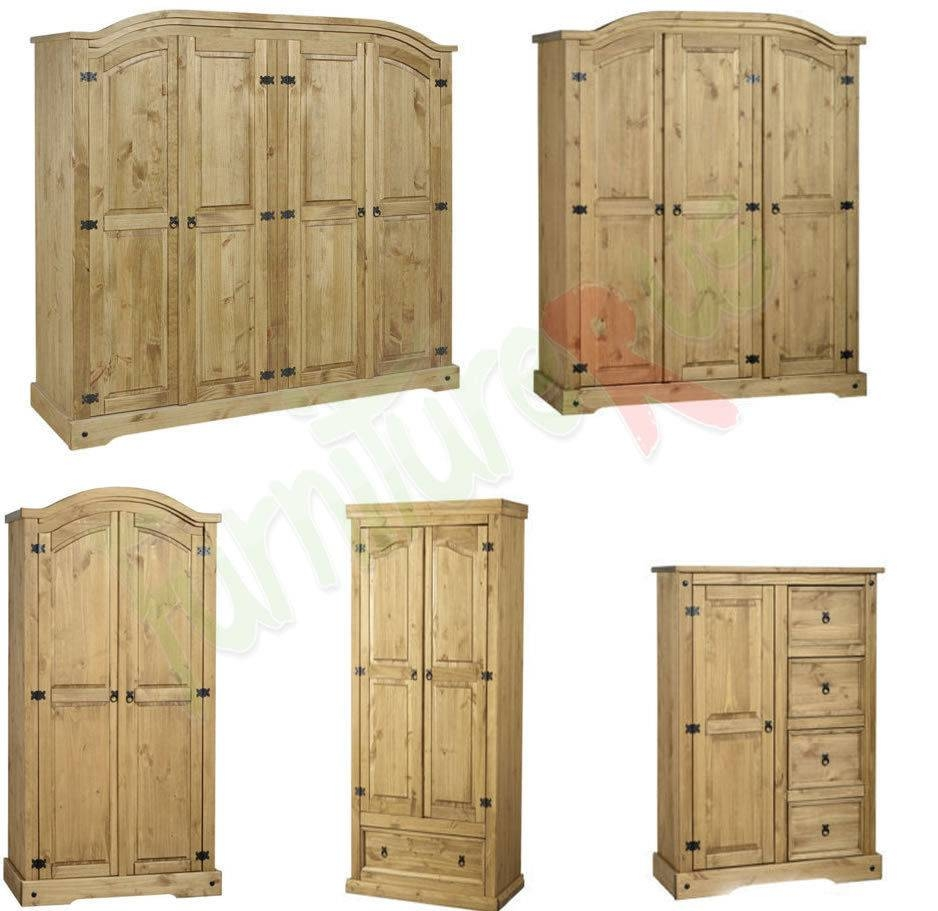 Corona Mexican Pine Wardrobe, 4 Doors, 3 Doors, 2 Doors Free intended for Corona Wardrobes With 3 Doors (Image 9 of 15)