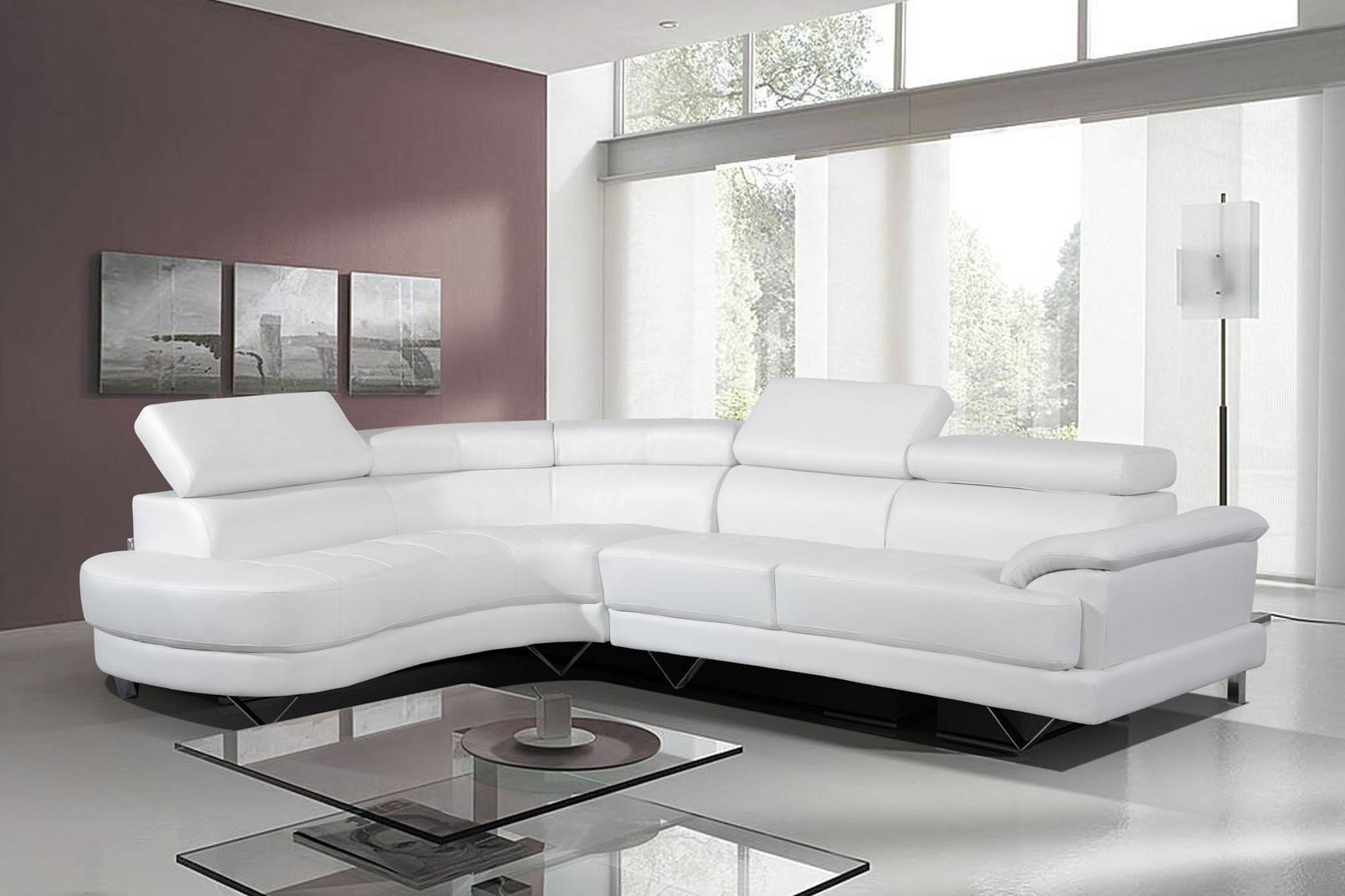 Featured Photo of White Leather Corner Sofa