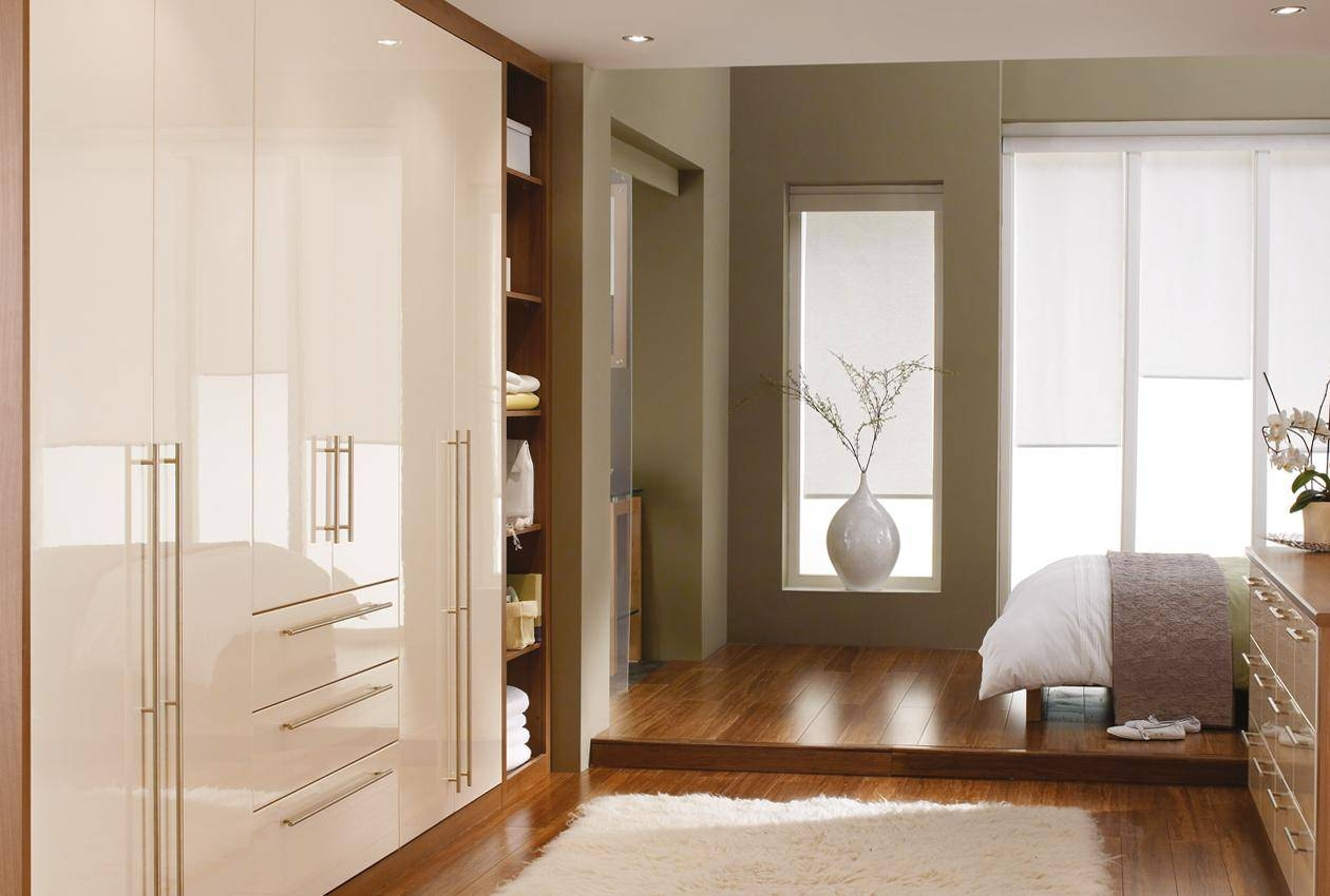 Cosmopolitan Bedroom Furniture & Wardrobes - Sharps in Cream Gloss Wardrobes Doors (Image 3 of 15)