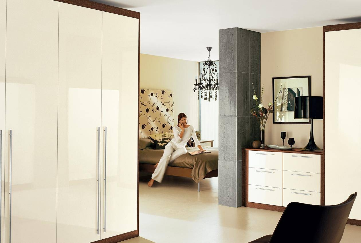 Cosmopolitan Bedroom Furniture & Wardrobes - Sharps with Cream Gloss Wardrobes Doors (Image 4 of 15)