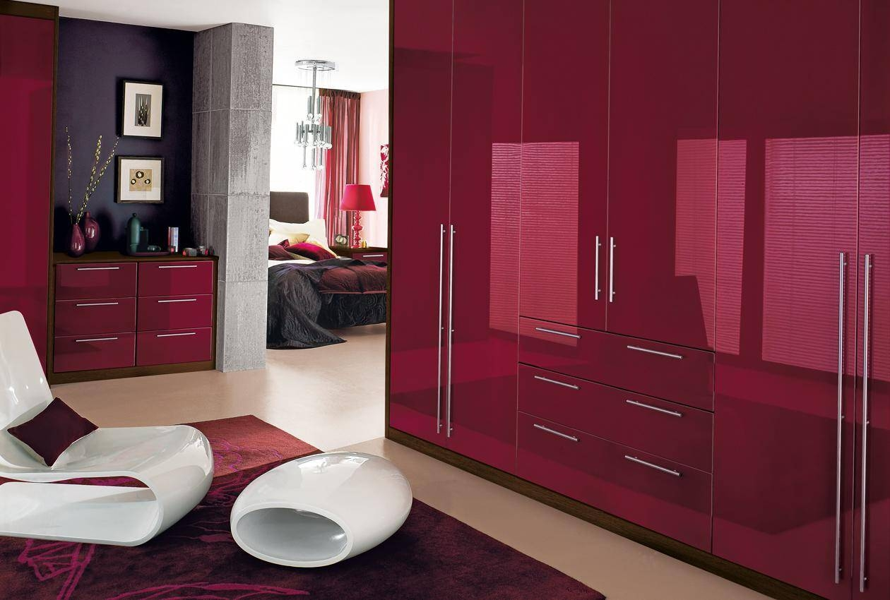 Cosmopolitan Bedroom Furniture & Wardrobes - Sharps within Glossy Wardrobes (Image 4 of 15)