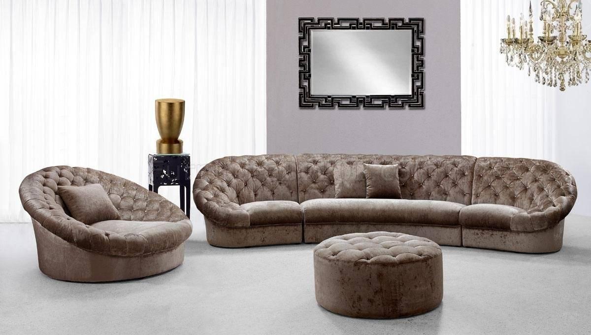 Cosmopolitan Mini Sectional Sofa, Chair, Ottoman Set Tan Fabric with Sofa Chair And Ottoman (Image 2 of 15)